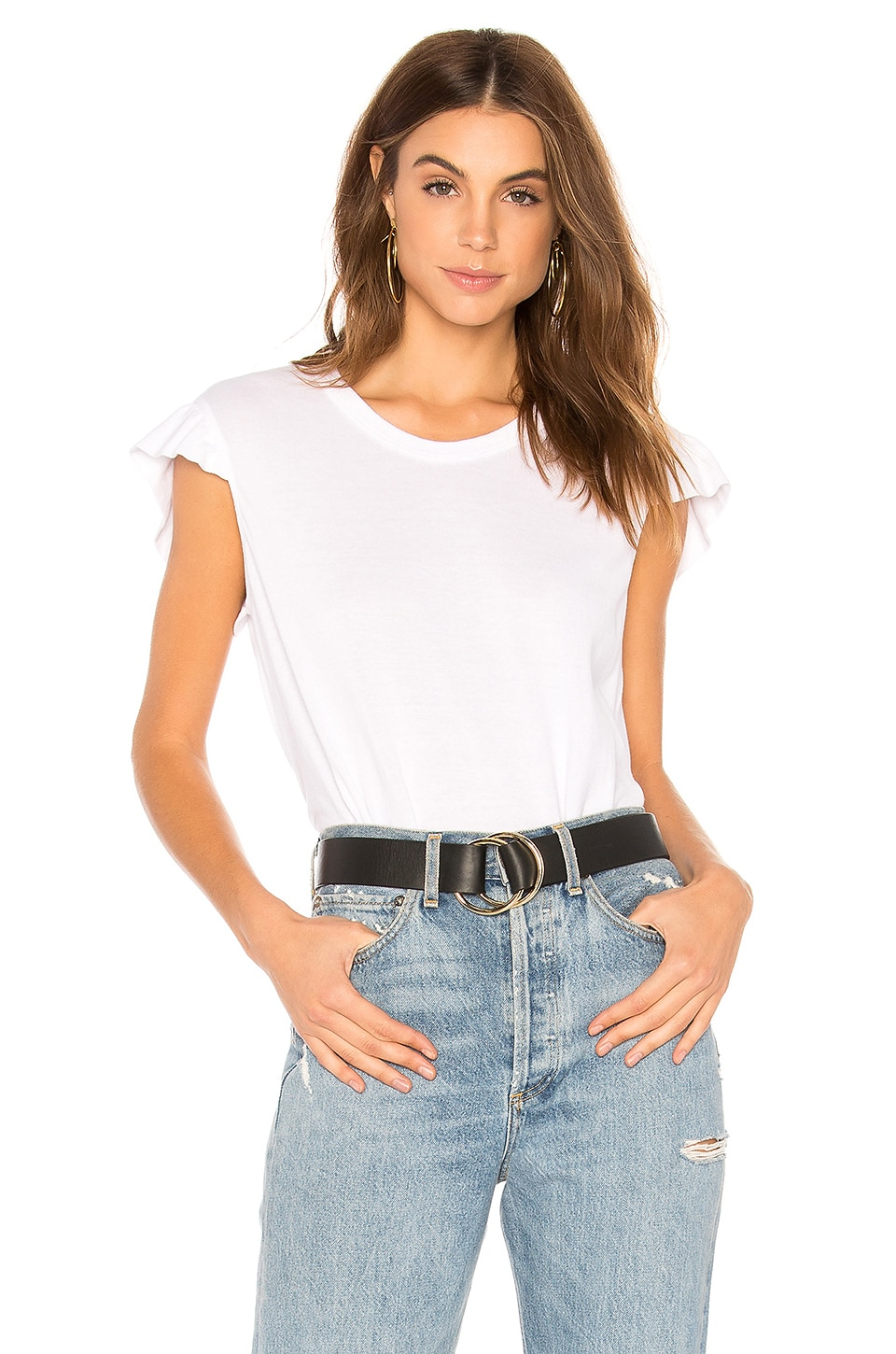 Wilt Flutter Trapeze Tee in White
