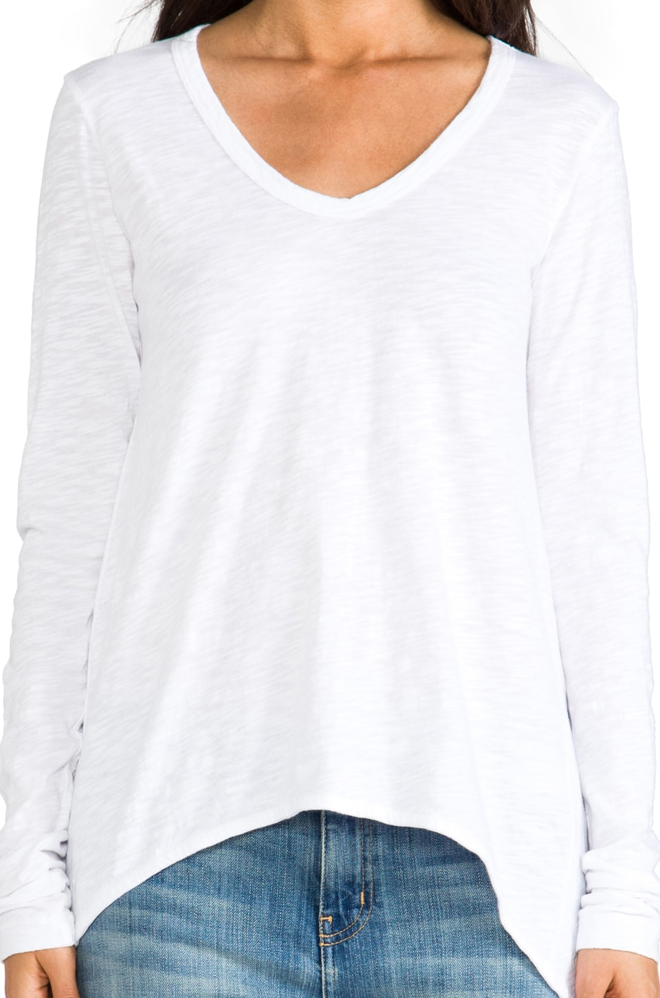 Wilt Slub Shrunken BF Long Sleeve in White