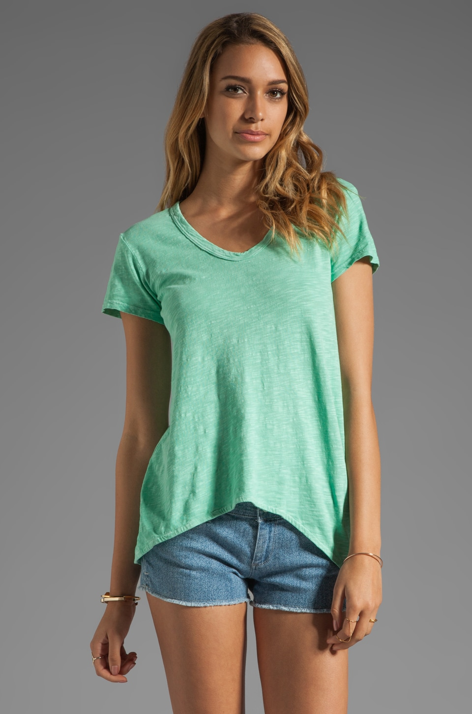 Wilt Slub Jersey Shrunken BF Tee in Mint