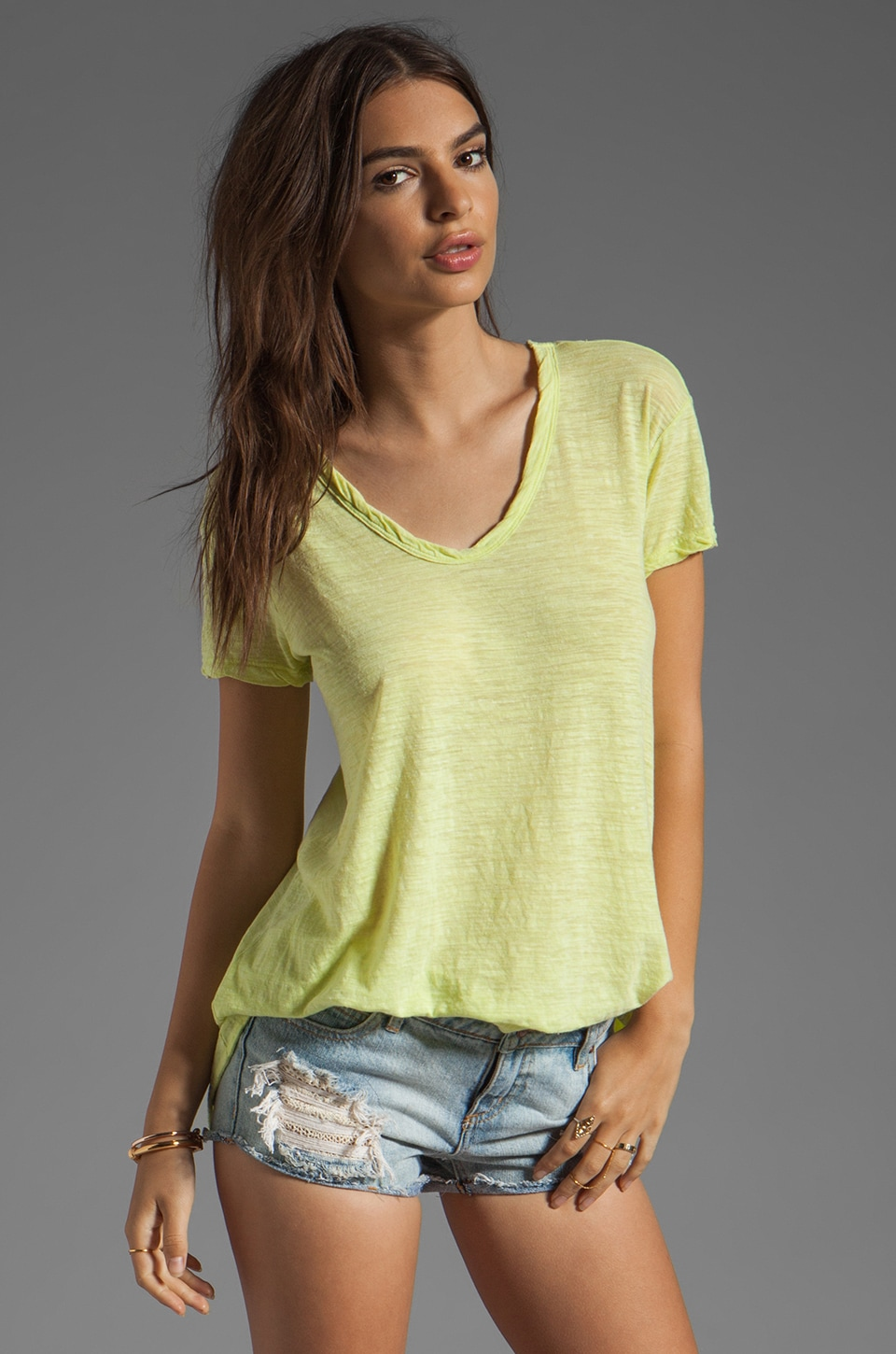 Wilt Heather Jersey Slouchy BF Tee in Keylime