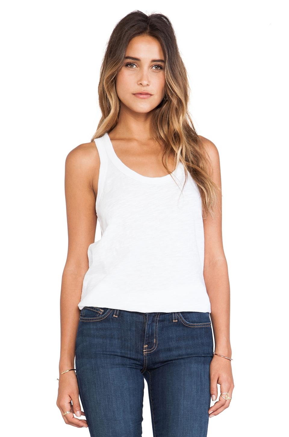 Wilt Slub Shrunken Tank in White