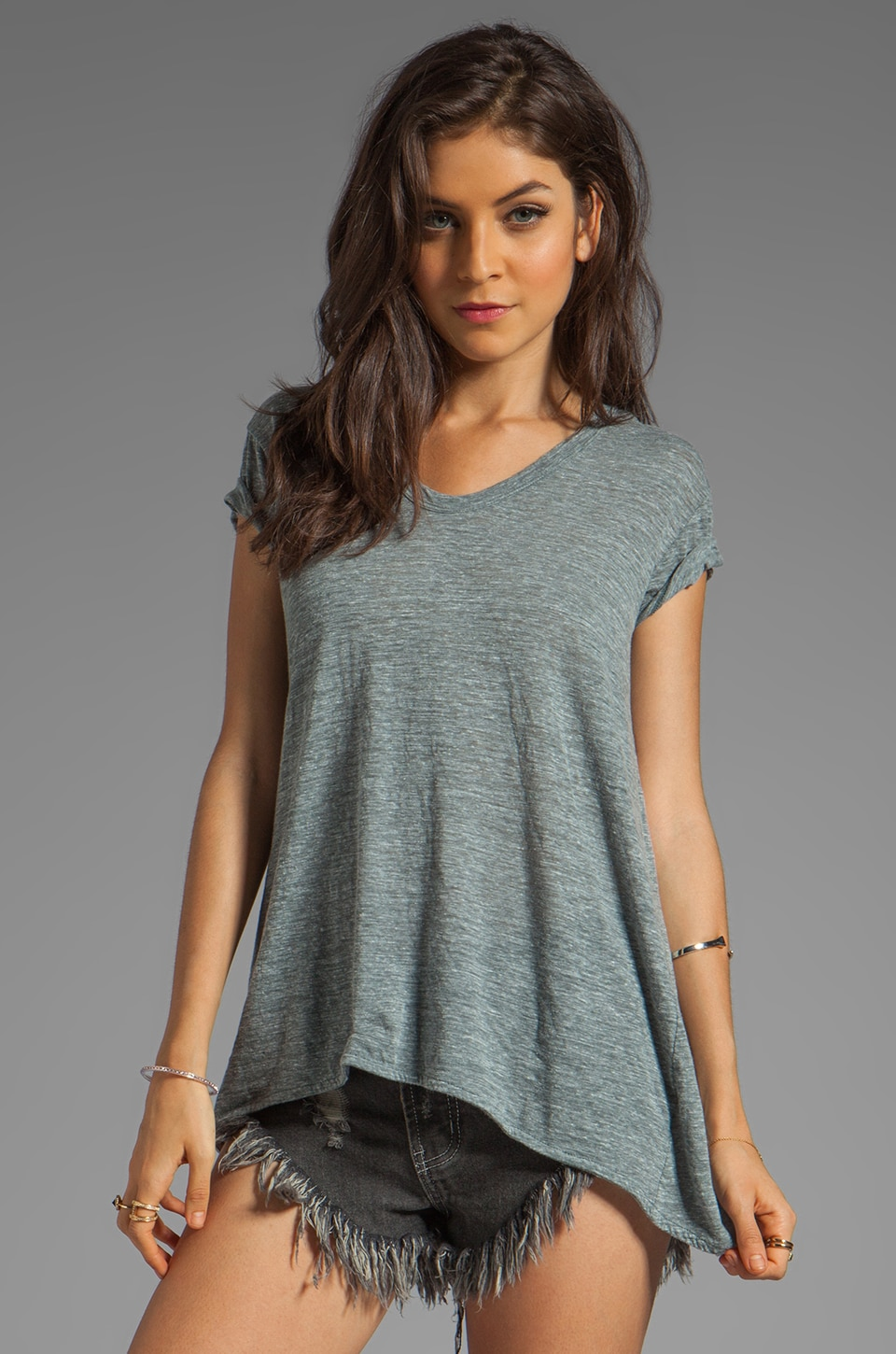 Wilt Slouchy Boyfriend Tee in Heather Black