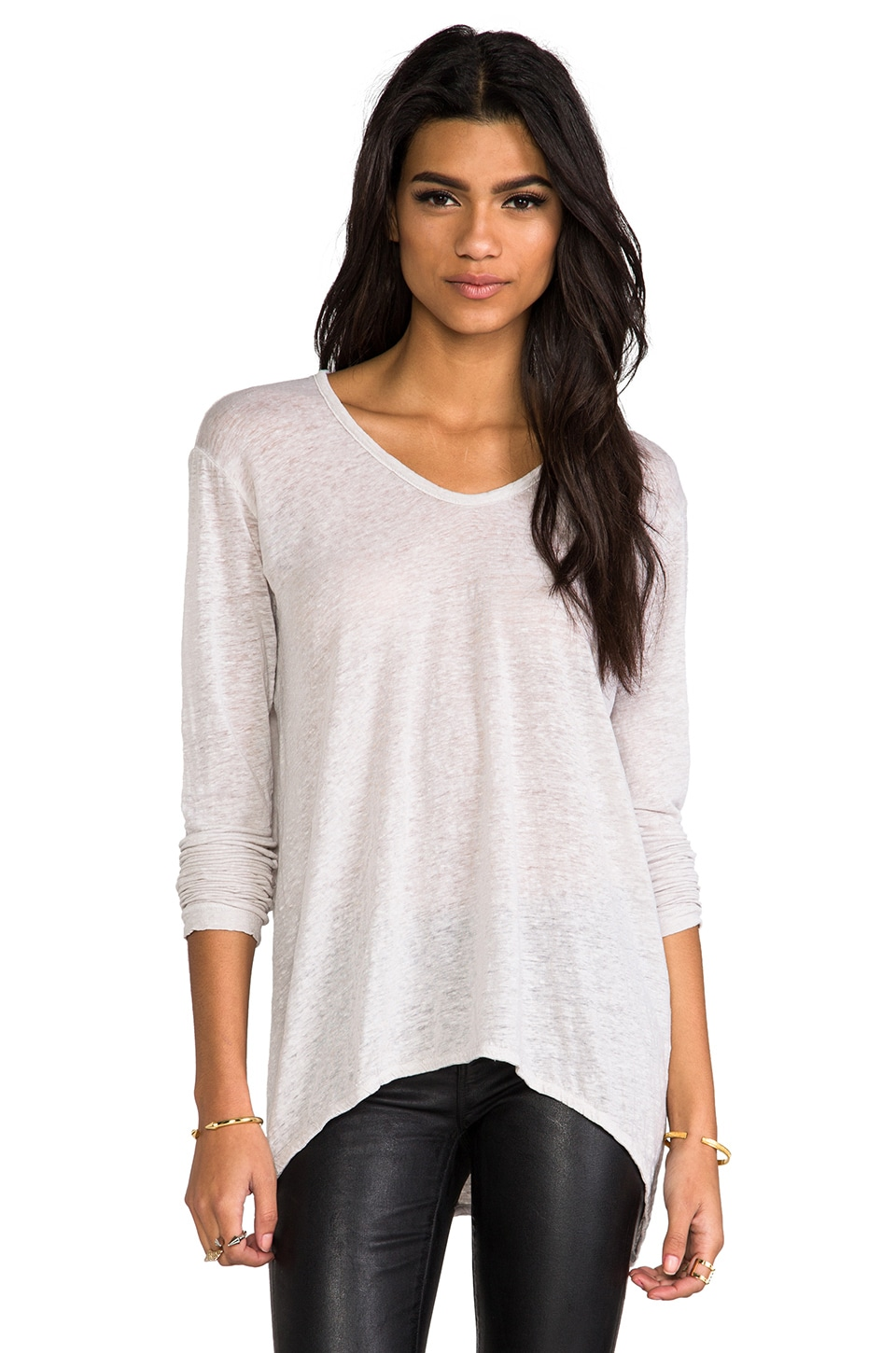 Wilt Lux Slub Shrunken BF Long Sleeve in Dove