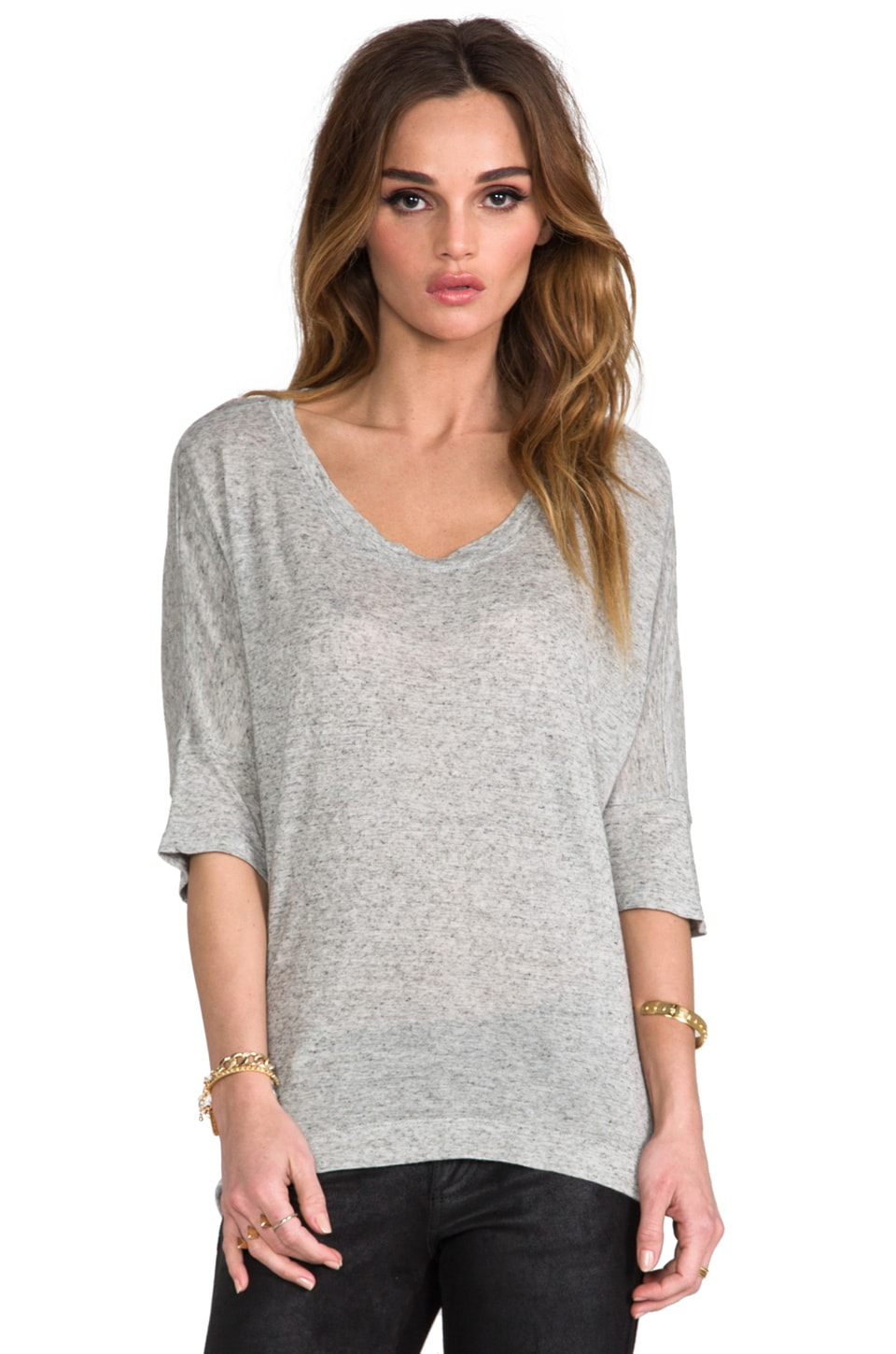 Wilt Big Dolman Elbow Sleeve in Heather Grey