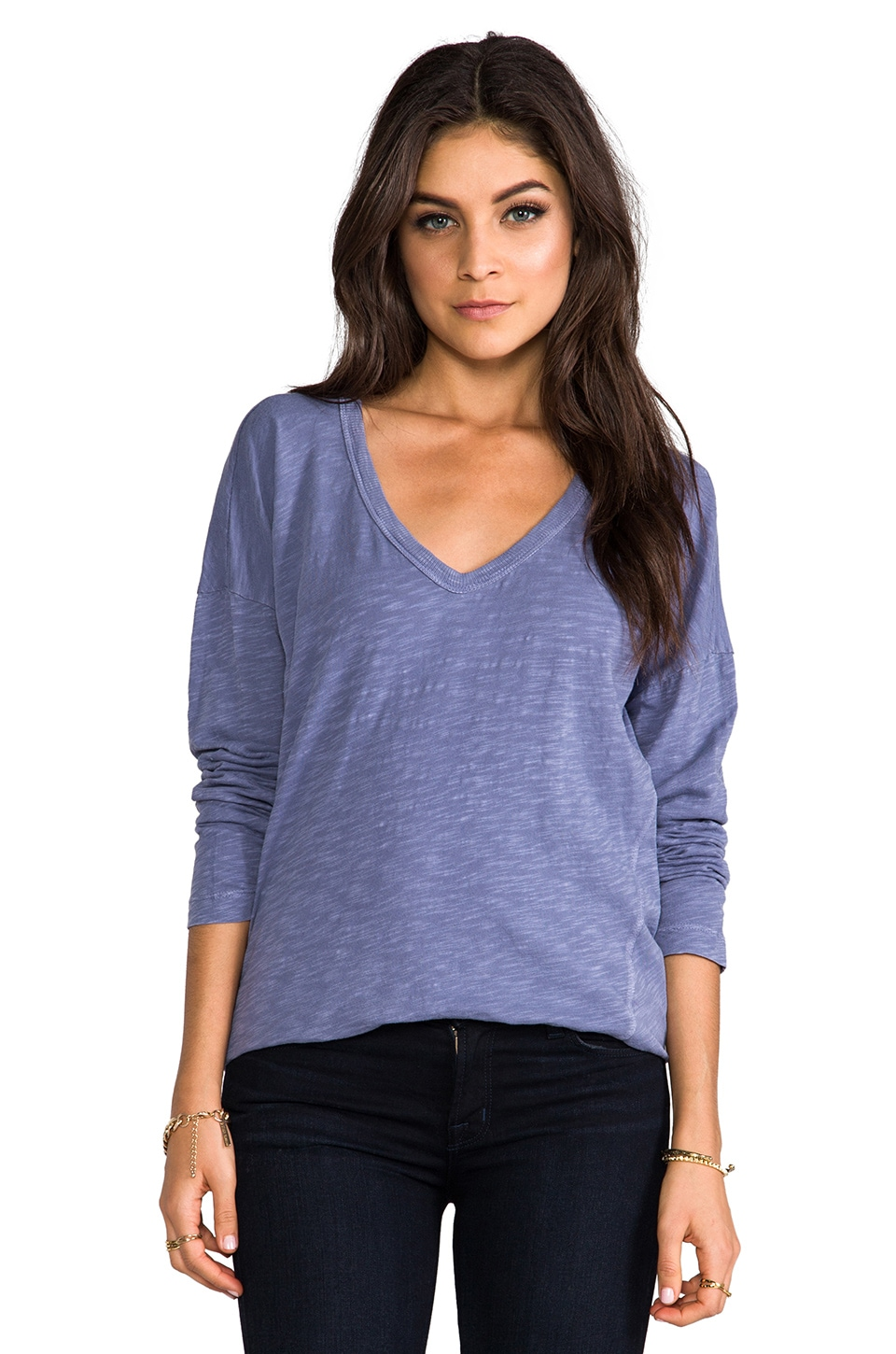 Wilt Long Sleeve Rib Dolman in Kite