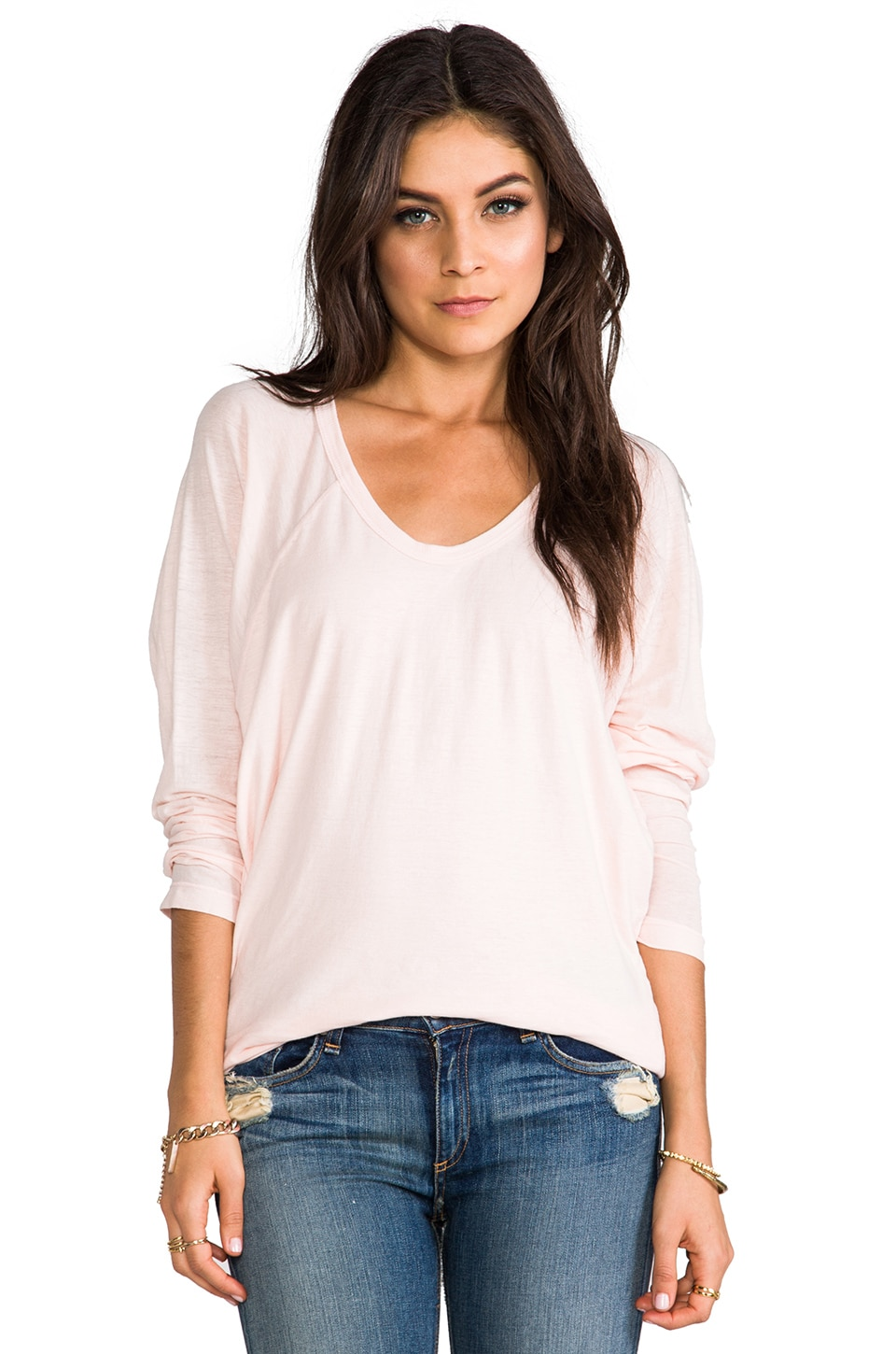 Wilt Long Sleeve Double Dolman in Blossom