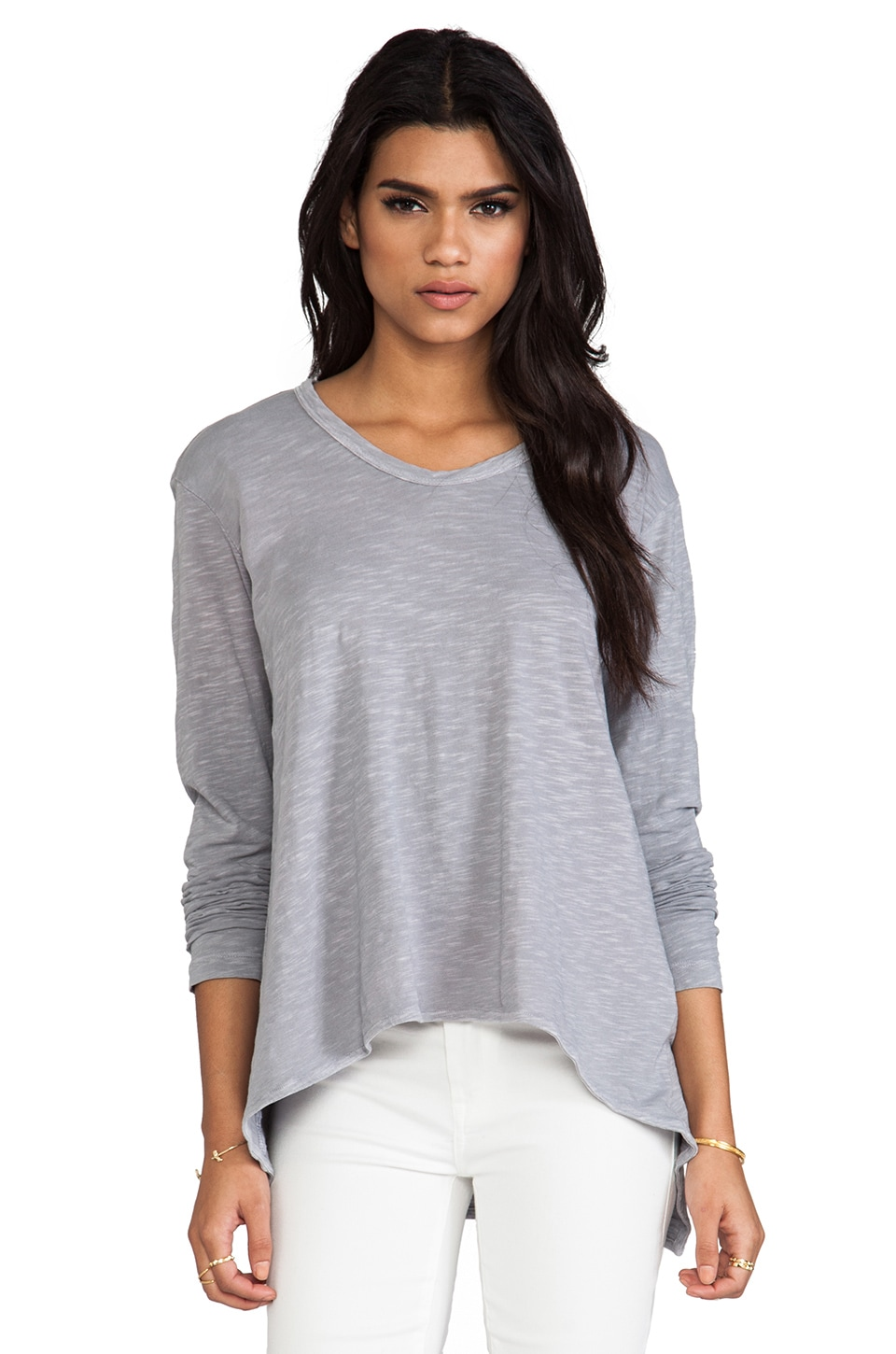 Wilt Long Sleeve Slouchy Boyfriend in Elephant