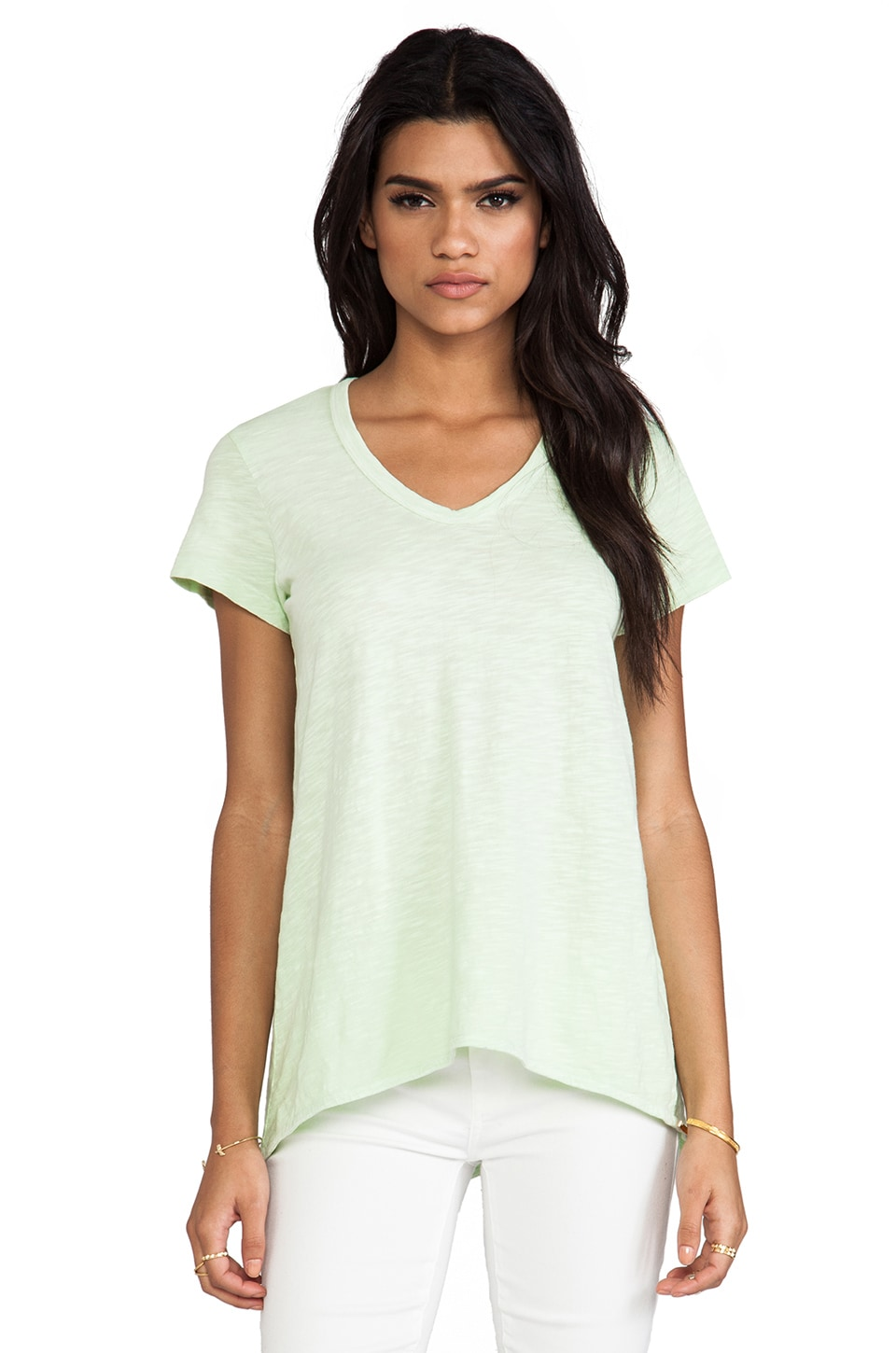 Wilt Short Sleeve Shrunken Boyfriend Tee in Pistachio