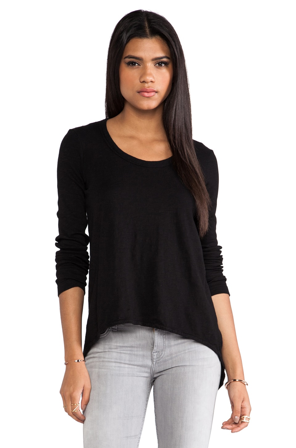 Wilt Hi-Lo Tunic Tee in Black