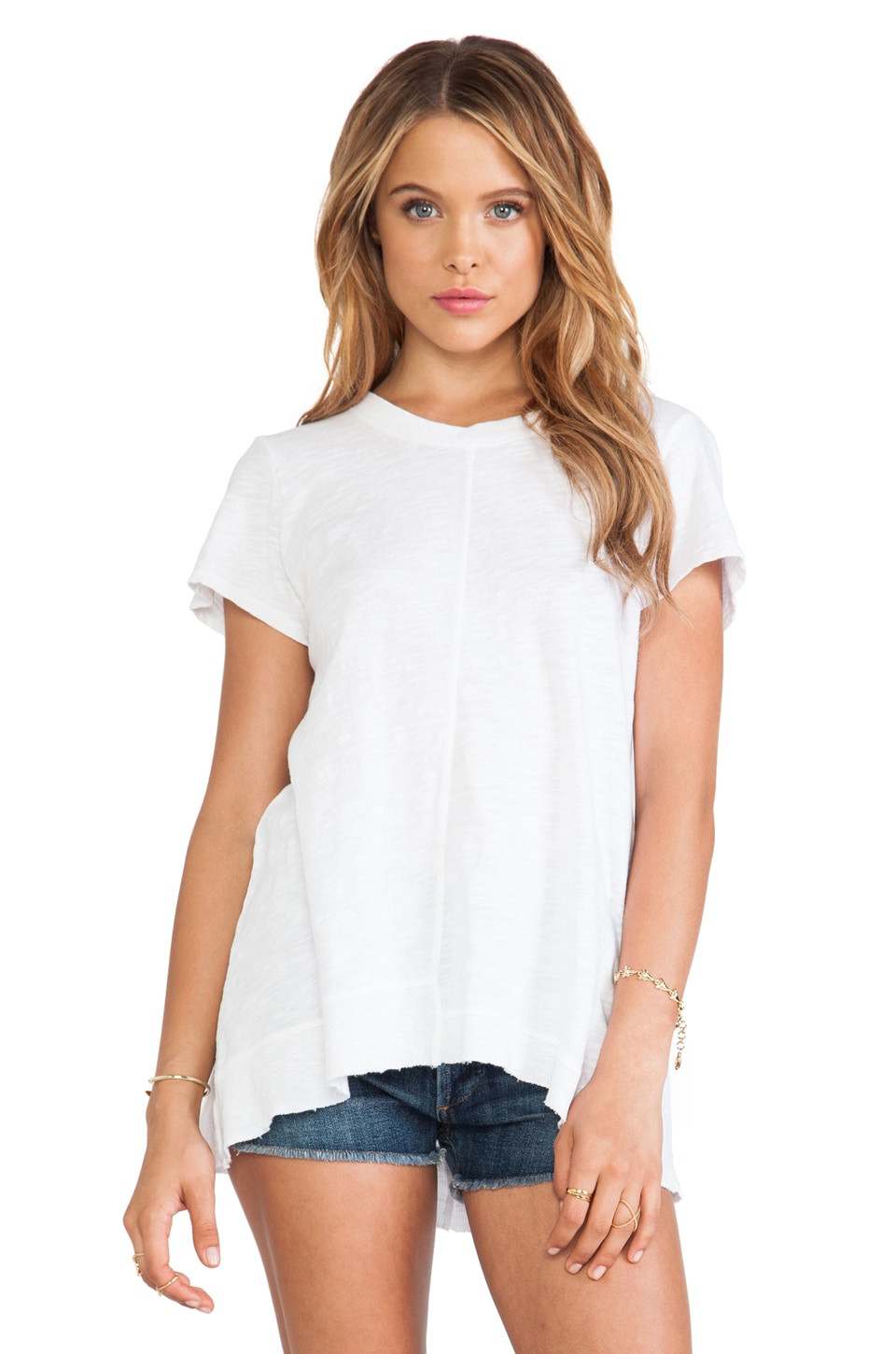 Wilt Slub Backless Boxy Tee in White