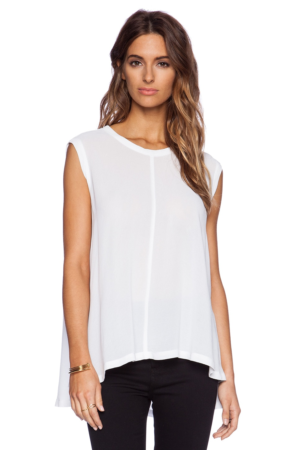 Wilt Trapeze Shell in White