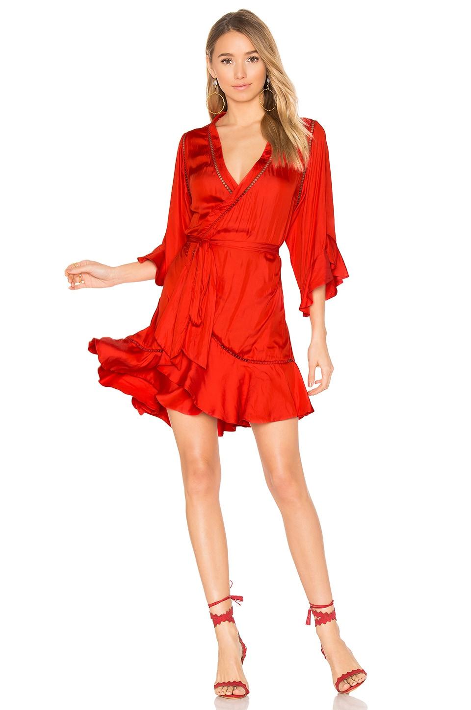 Winona Australia Arielle Short Wrap Dress in Red | REVOLVE