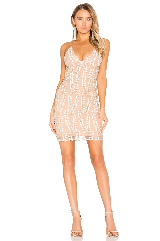 Winona Australia Camille V Neck Dress in Gold