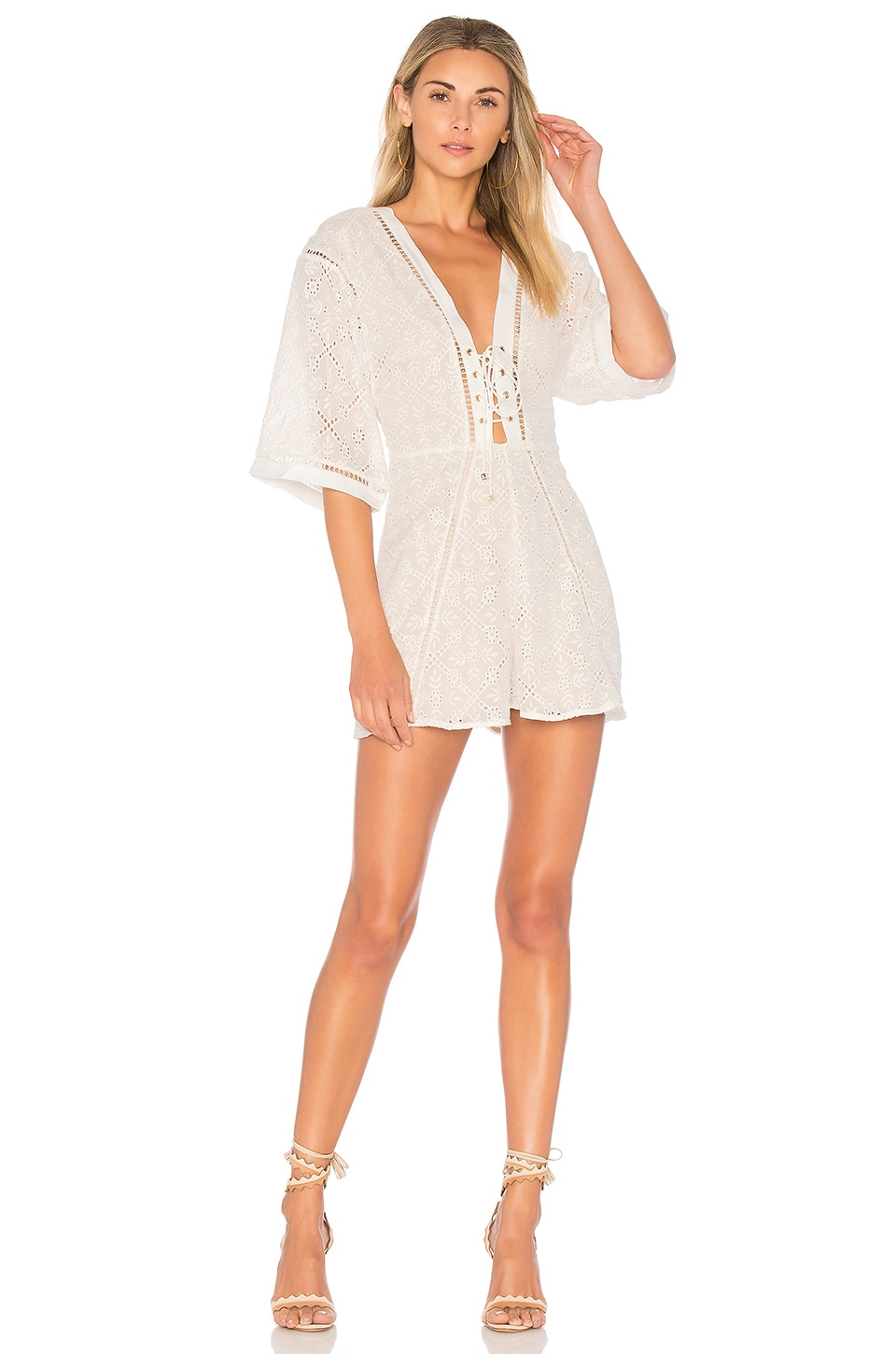 Mojito Lace Up Playsuit