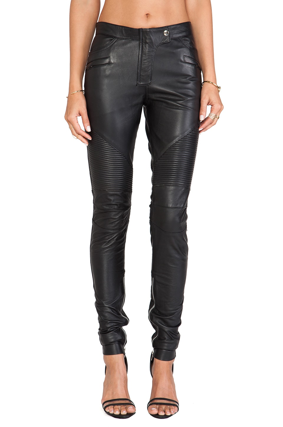 WINSTON WOLFE Biker Pants in Black
