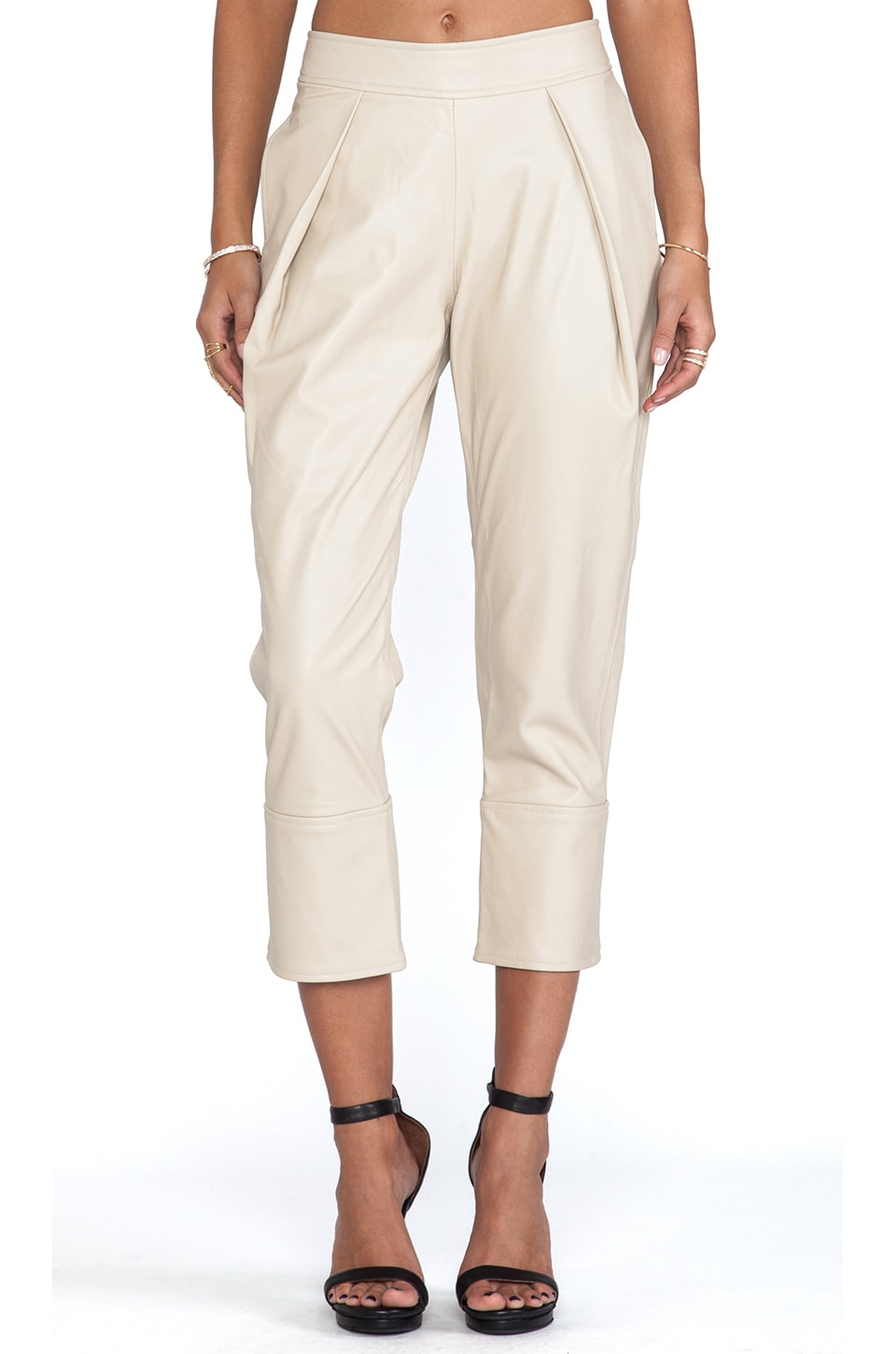 WINSTON WOLFE Cropped Tailor Pant in Cream
