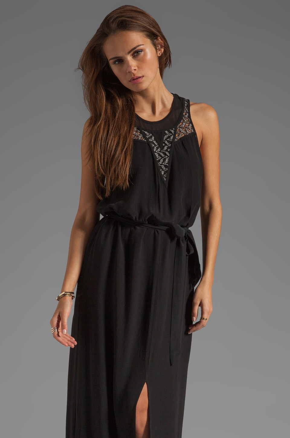 Wish Blade Maxi Dress in Black