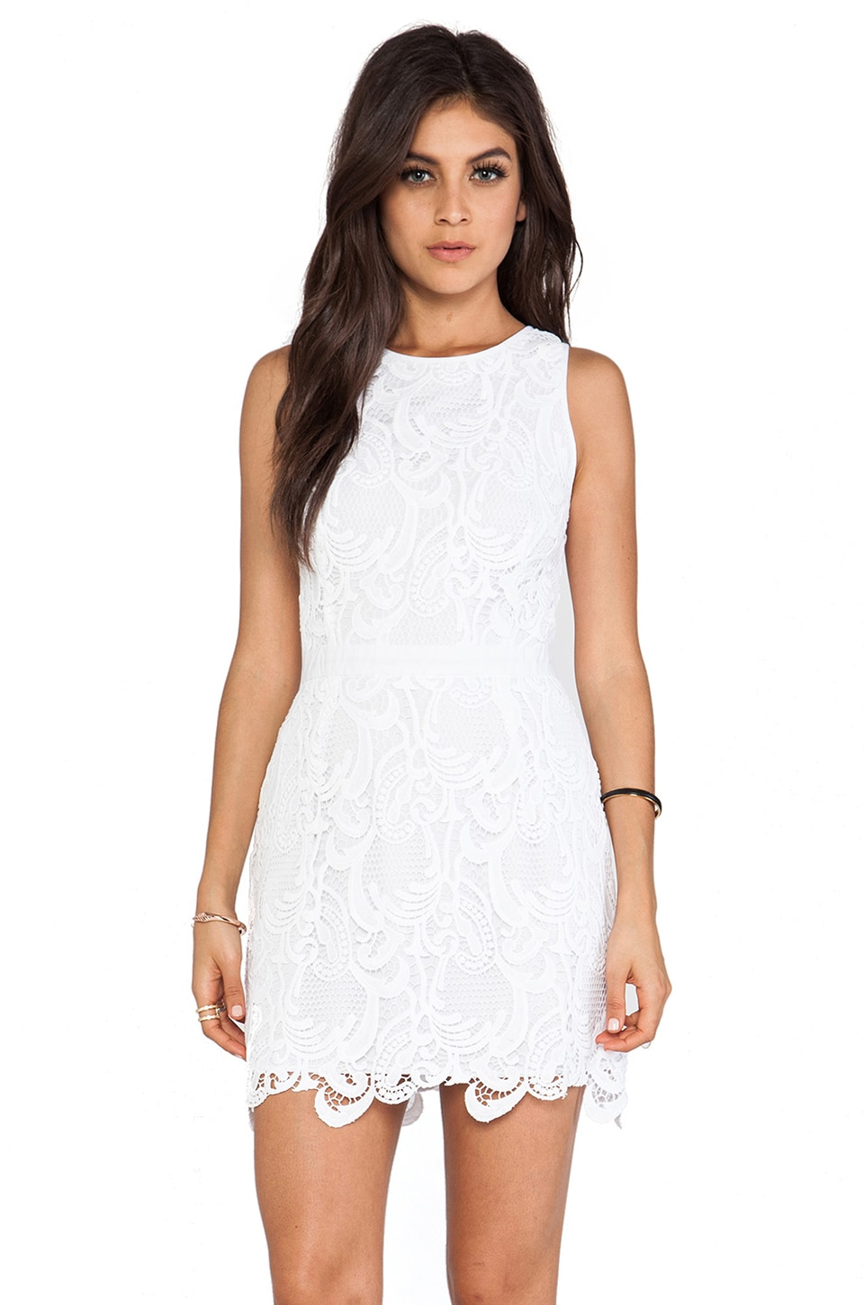 Wish REVOLVE Exclusive Lotus Dress in White & White