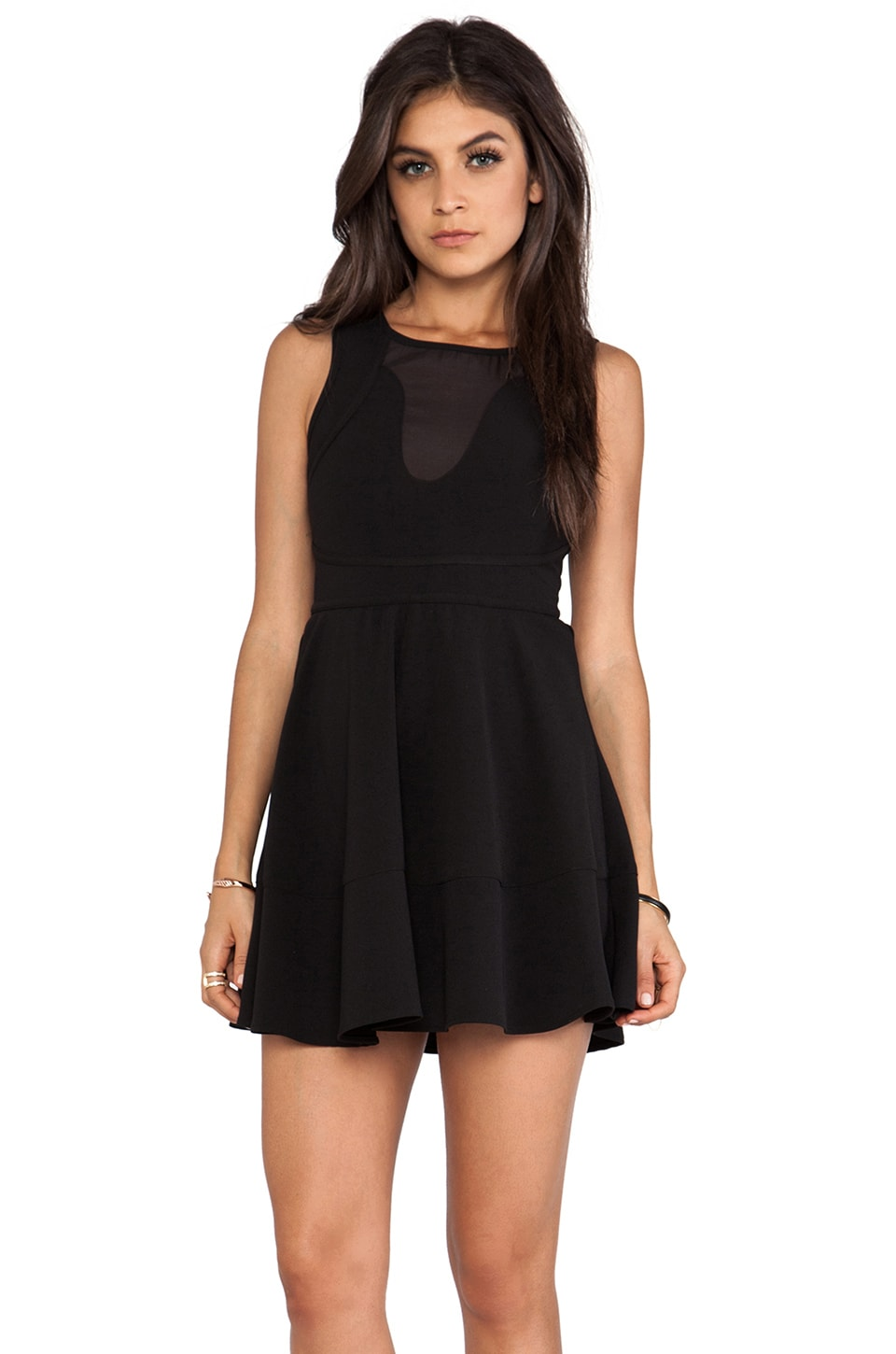 Wish Magnetize Mini Dress in Black