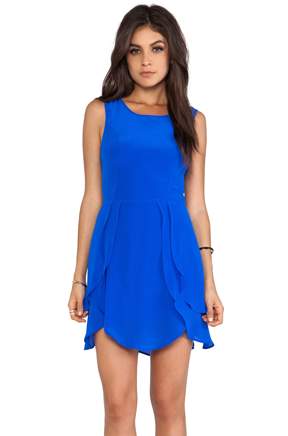 Wish Petal Dress in Cobalt