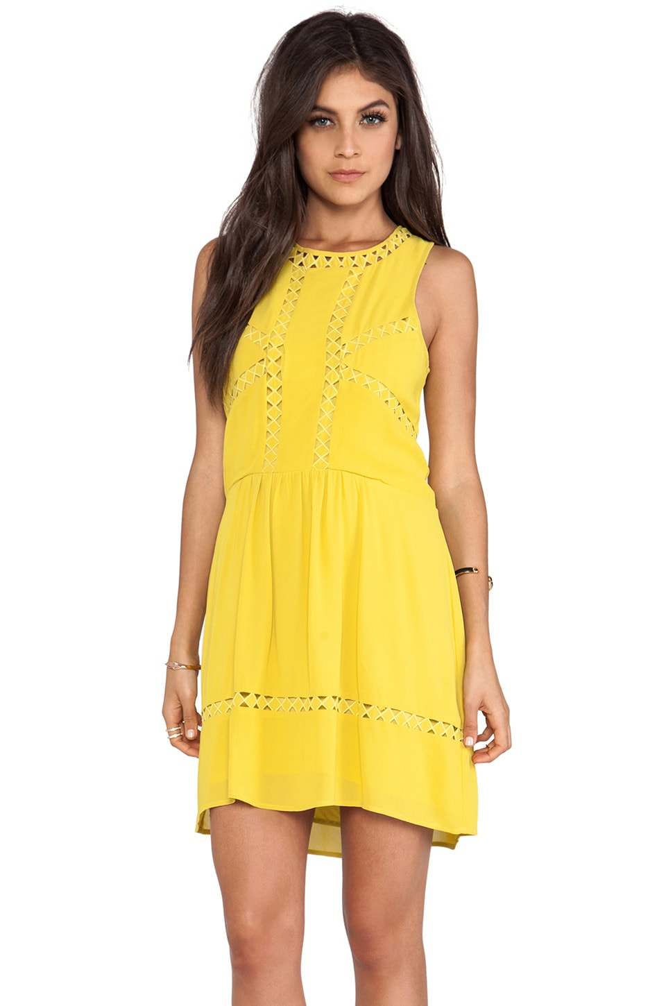 Wish Diamond Mini Dress in Sunshine