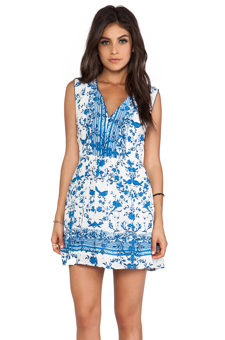 Wish Tank Mini Dress in Blue Bird