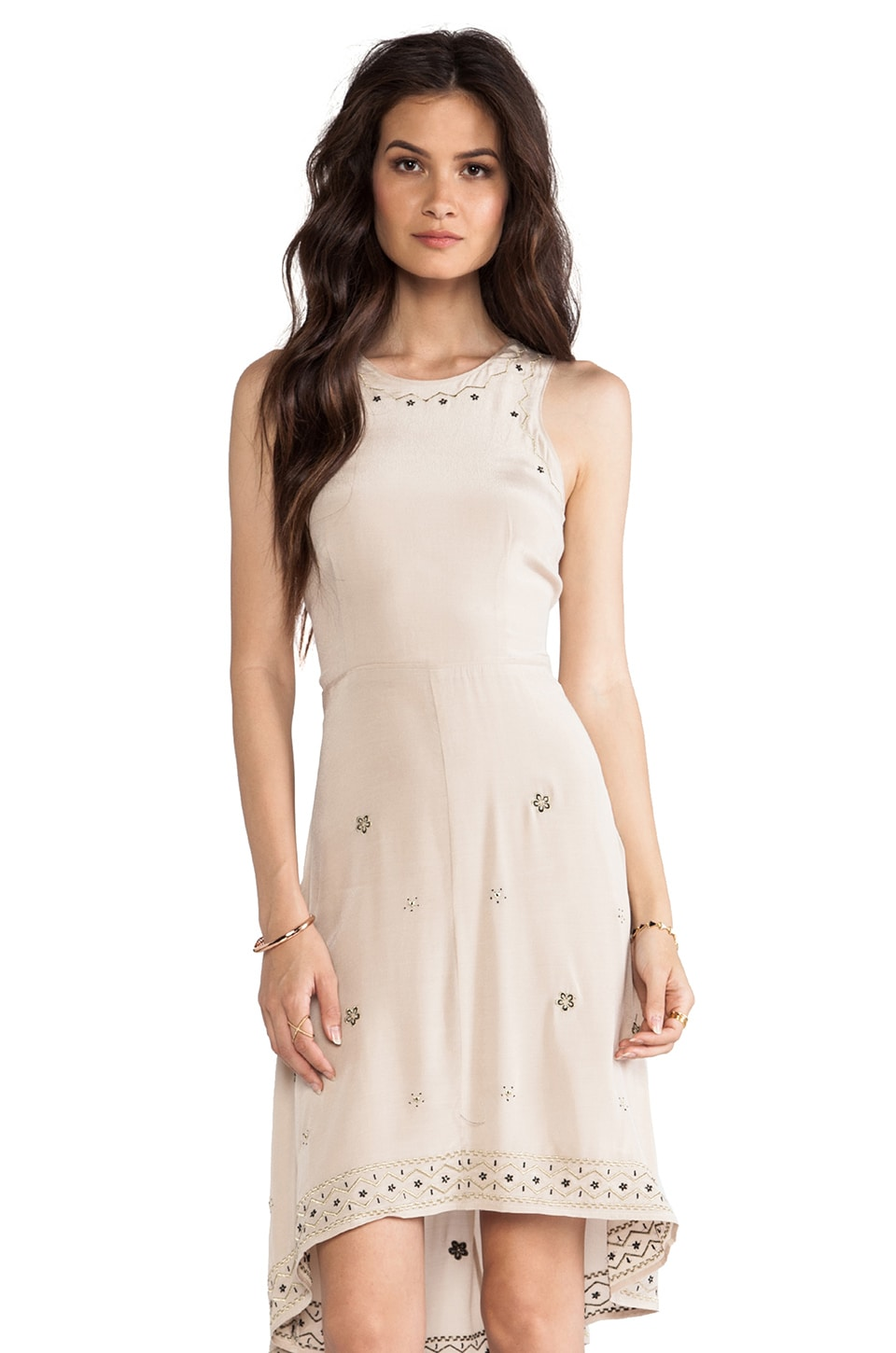 Wish Dainty Dress in Nude