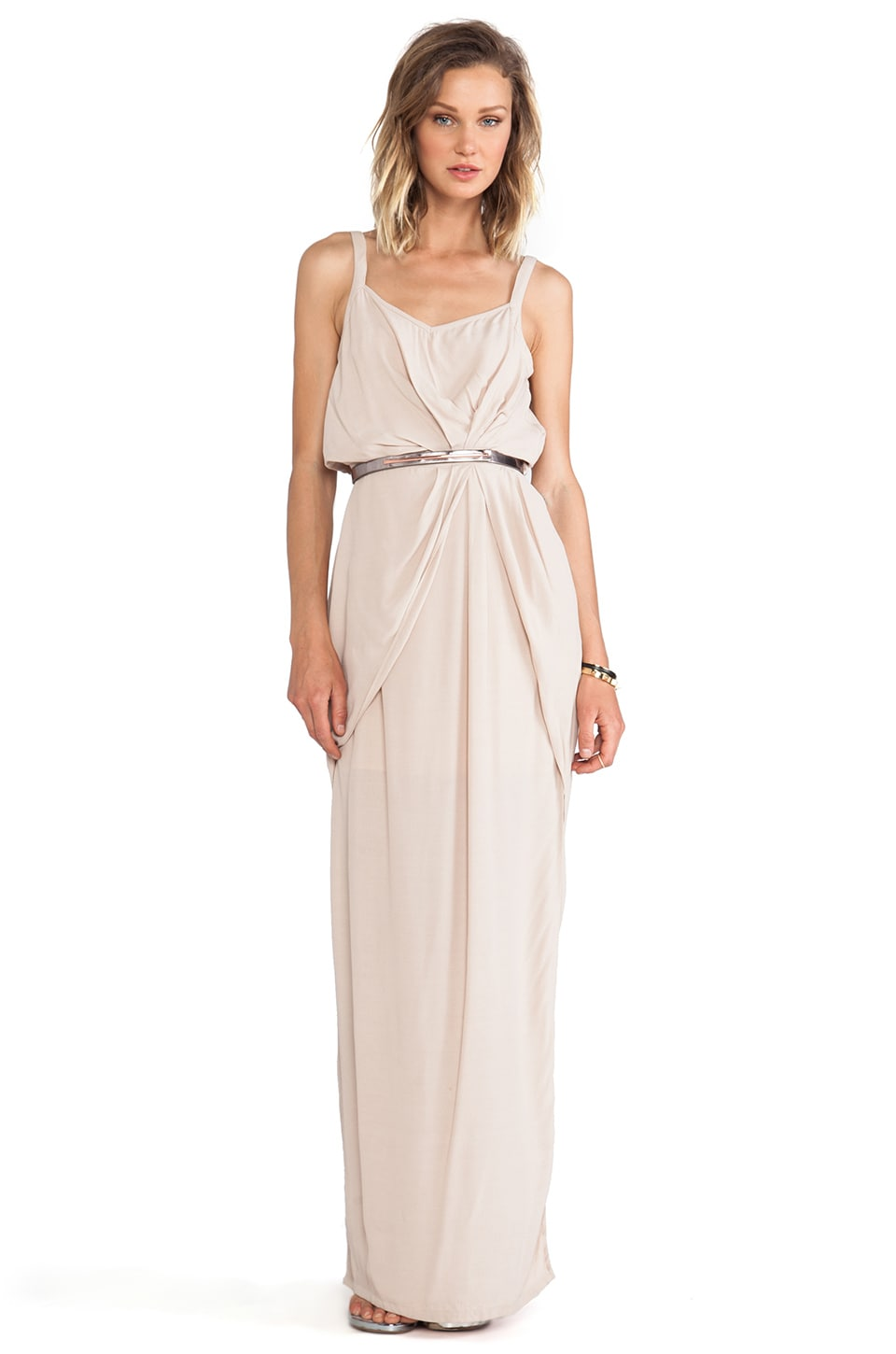 Wish Eternal Maxi Dress in Sand