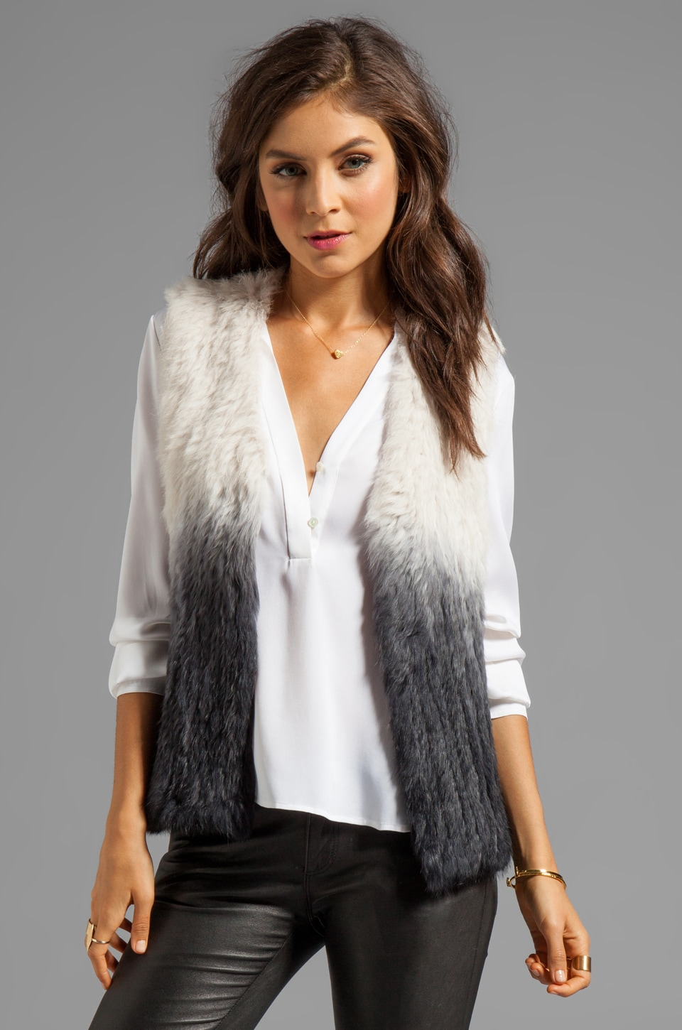 Wish Transcend Fur Vest in Transcend