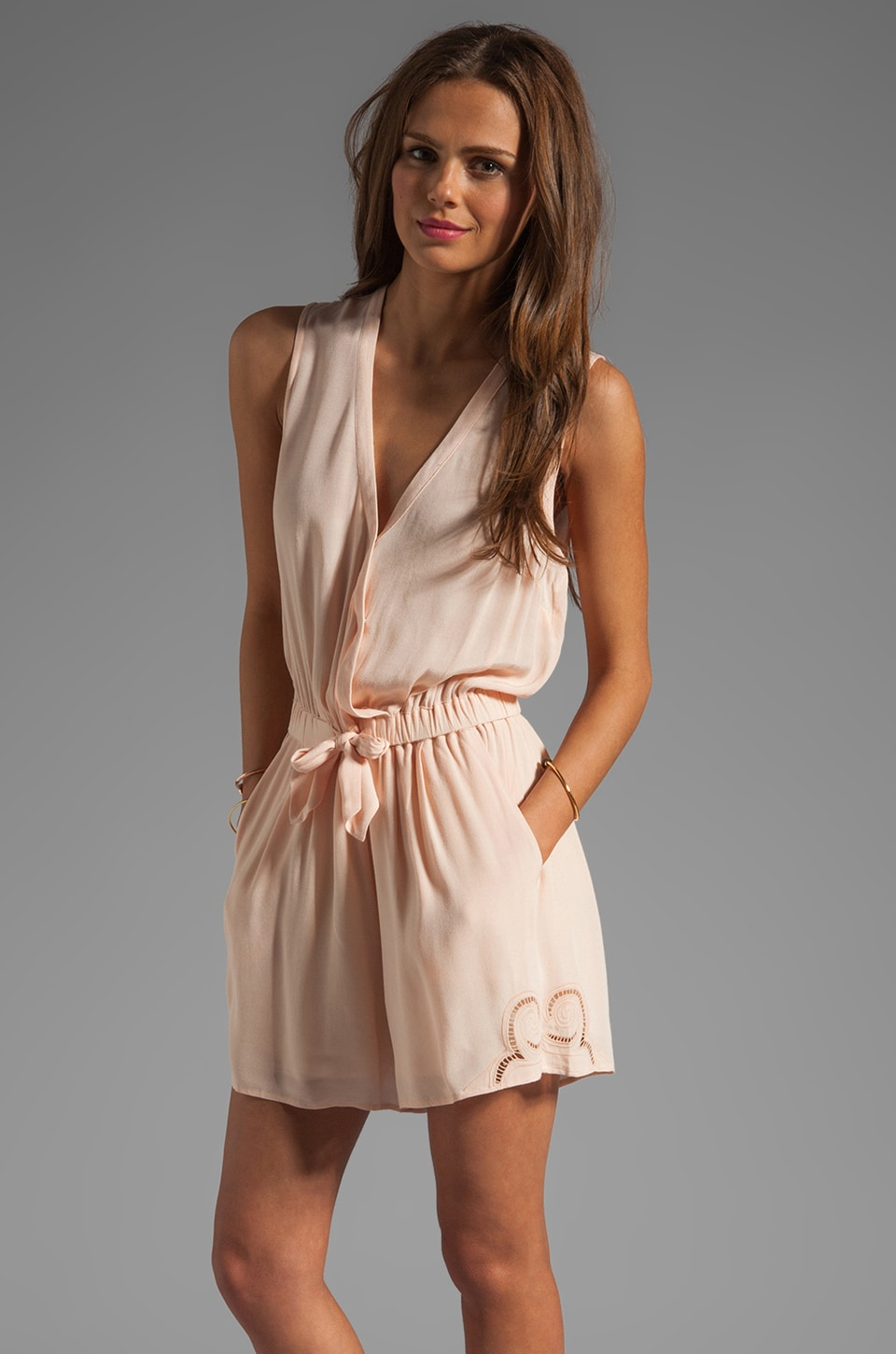Wish Trinket Playsuit in Nude