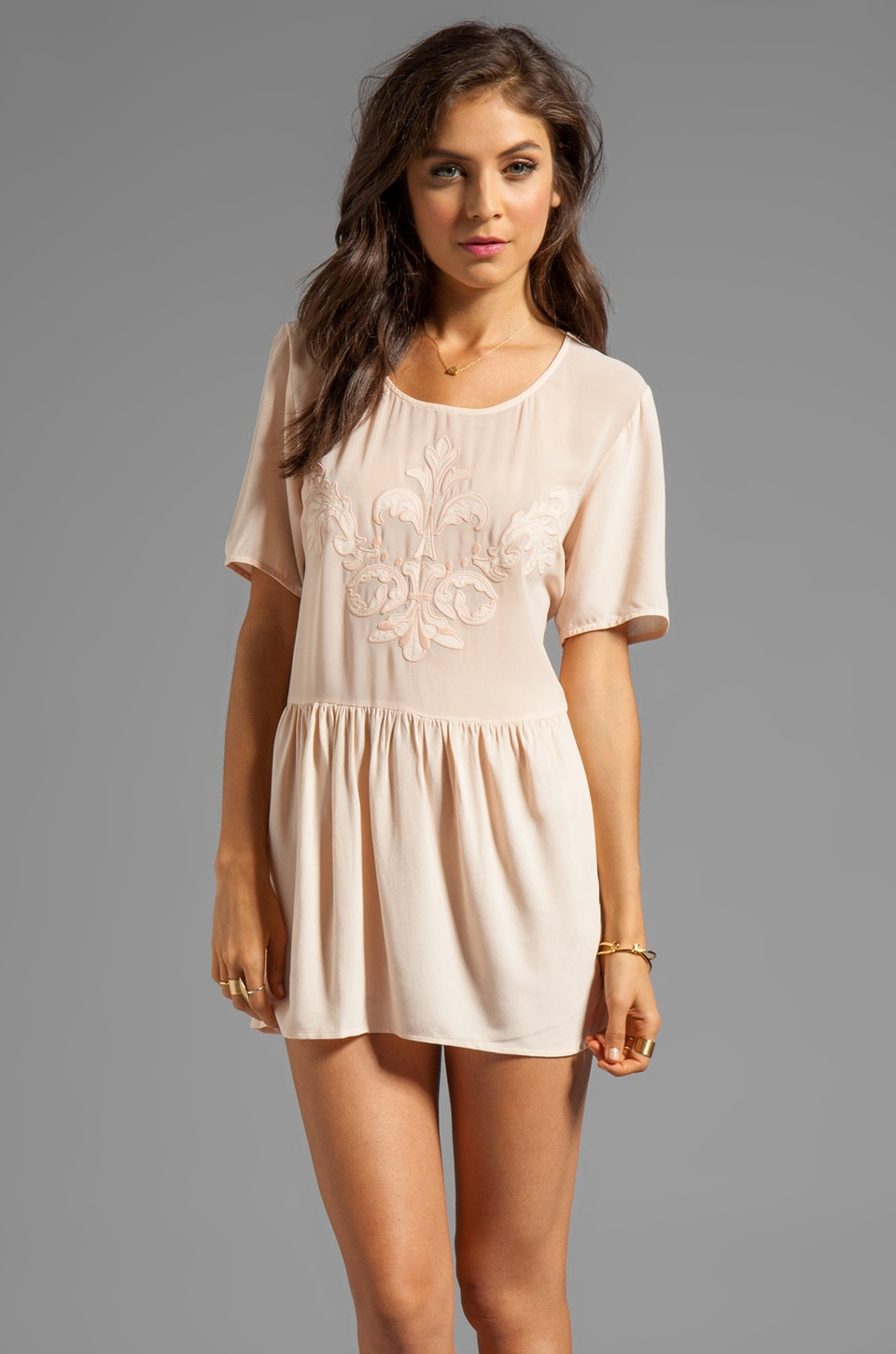 Wish Jeopardy Tunic in Nude