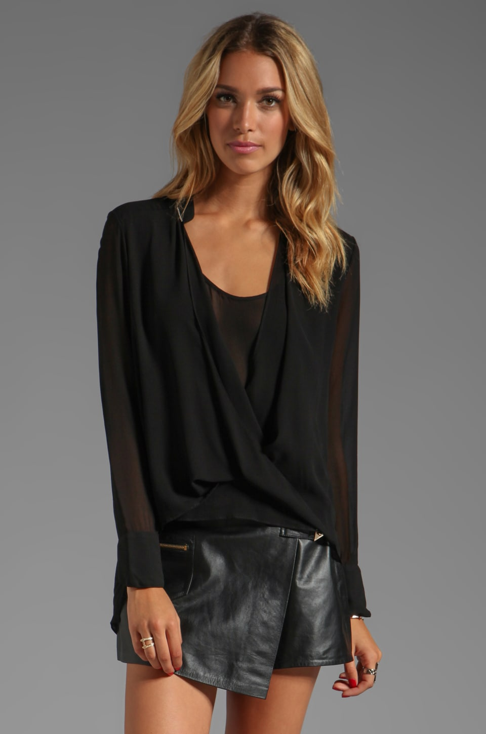Wish Outshine Blouse in Black