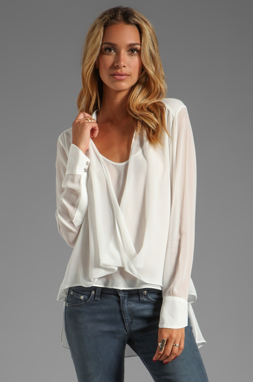 Wish Outshine Blouse in White