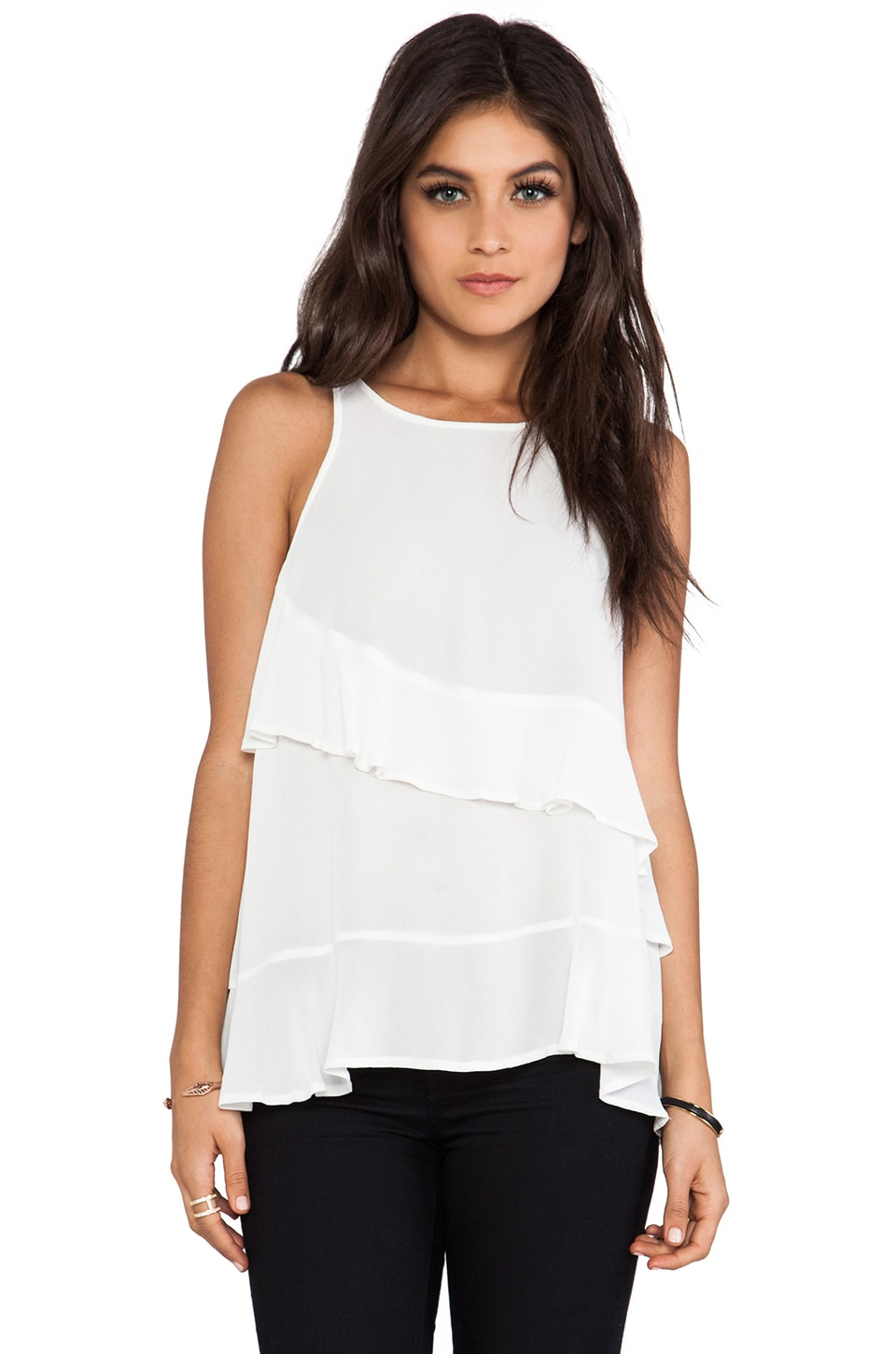 Wish Grace Tank in White
