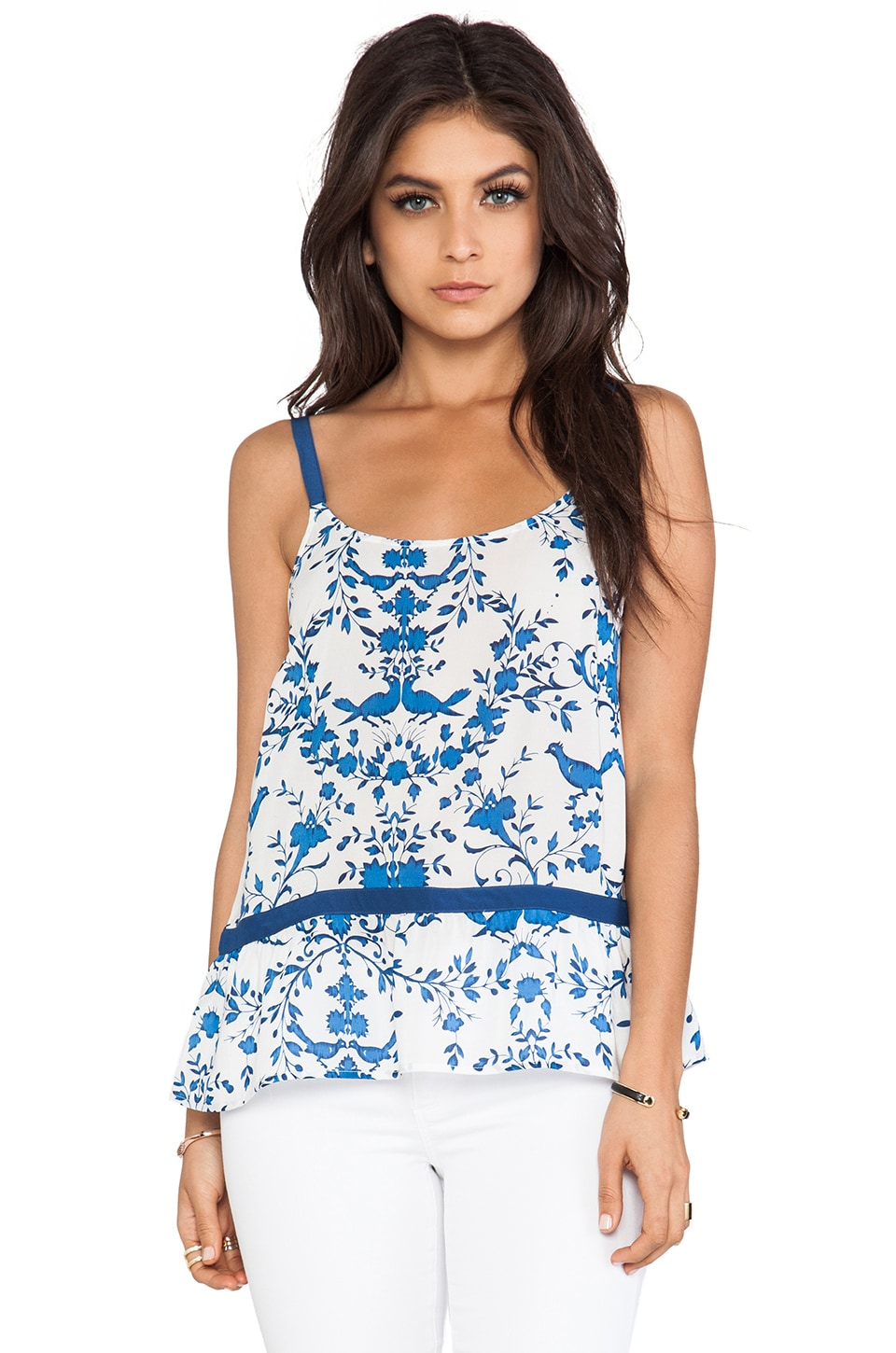 Wish Printed Cami in Blue Bird