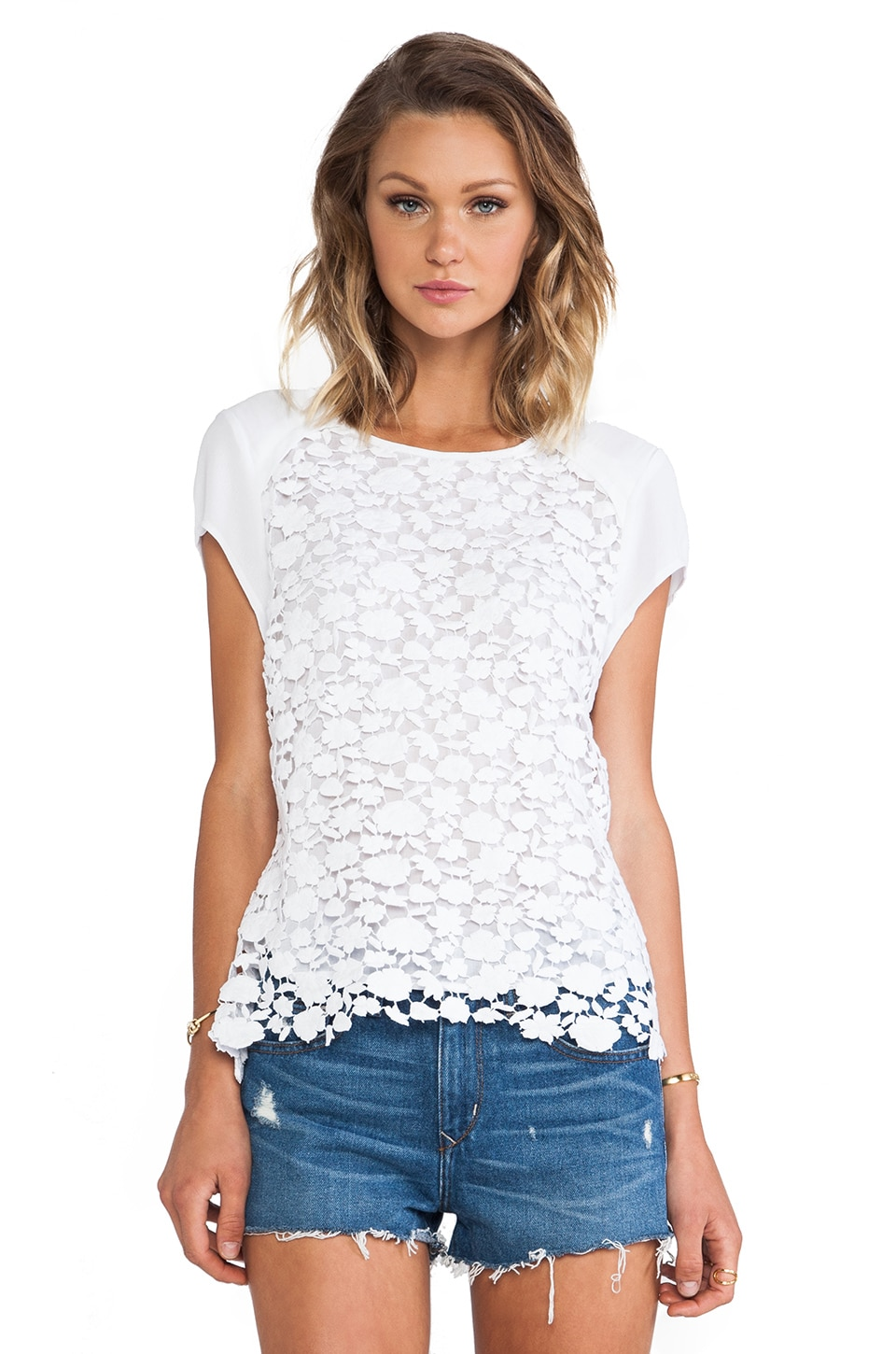 Wish Eternal Lace Top in White
