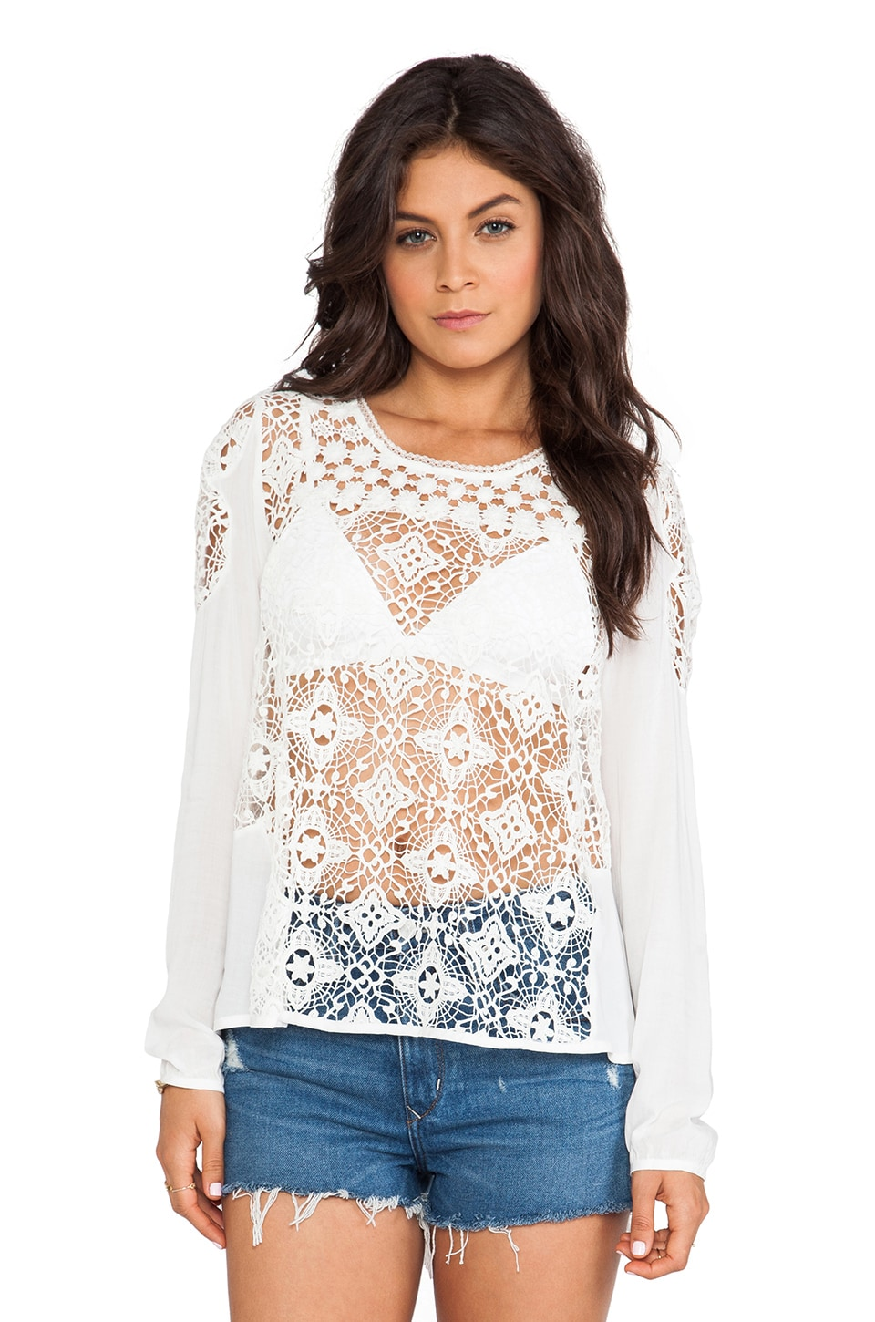 Wish Shimmer Top in White