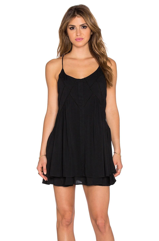Lost in Lunar Wilde Heart Lucky Star Shift Dress in Black