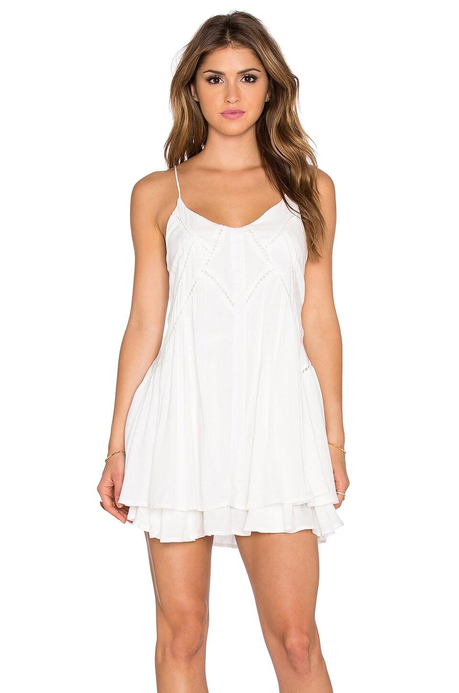 Lost in Lunar Wilde Heart Lucky Star Shift Dress in White