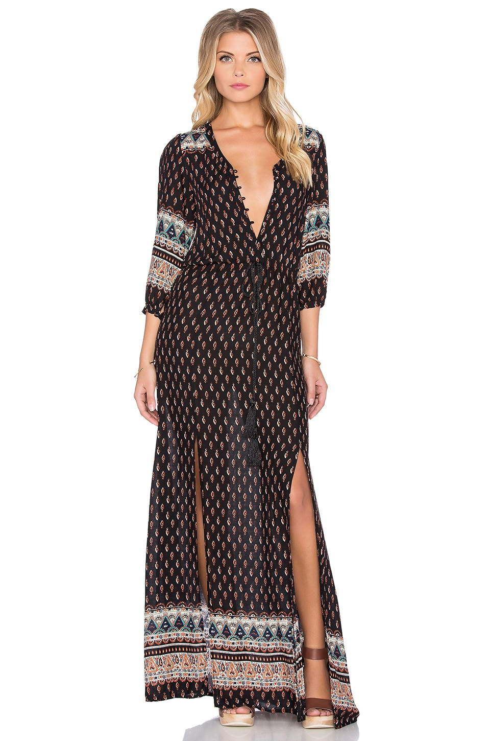 Lost in Lunar Wilde Heart Be Mine Maxi Dress in Print