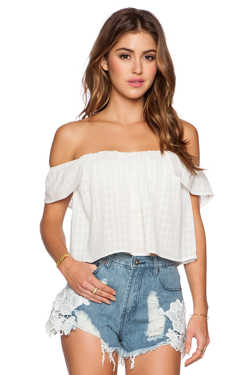 Lost in Lunar Wilde Heart Higher Love Top in White