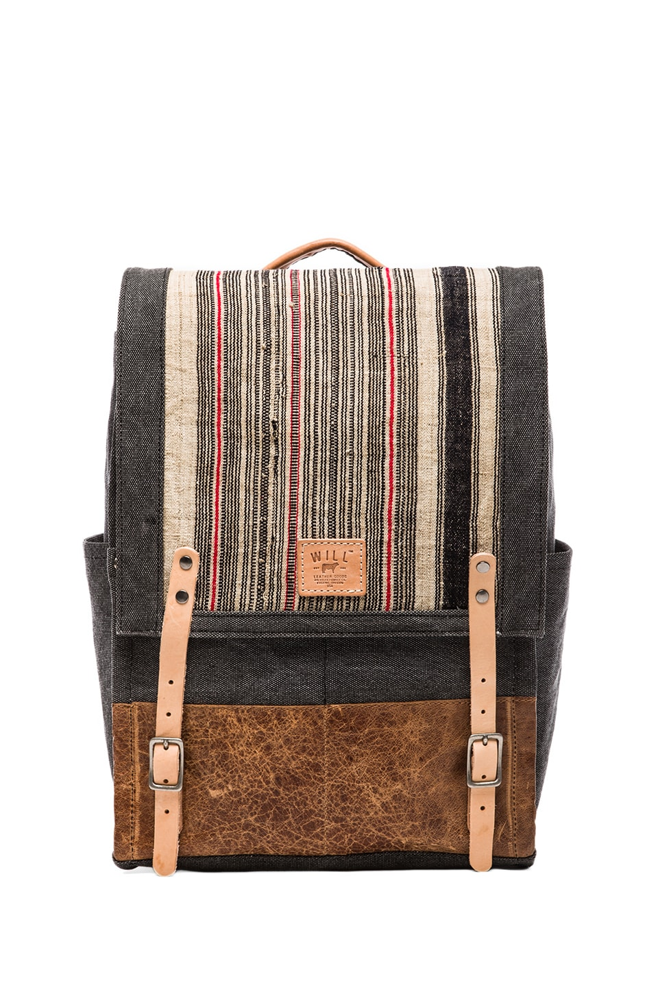 WILL Leather Goods Pha Sin Backpack in Black