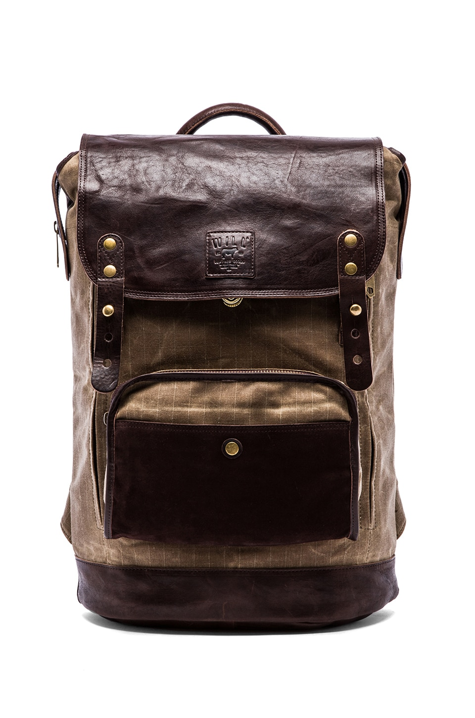 WILL Leather Goods The Frontier Backpack in Tan Brown