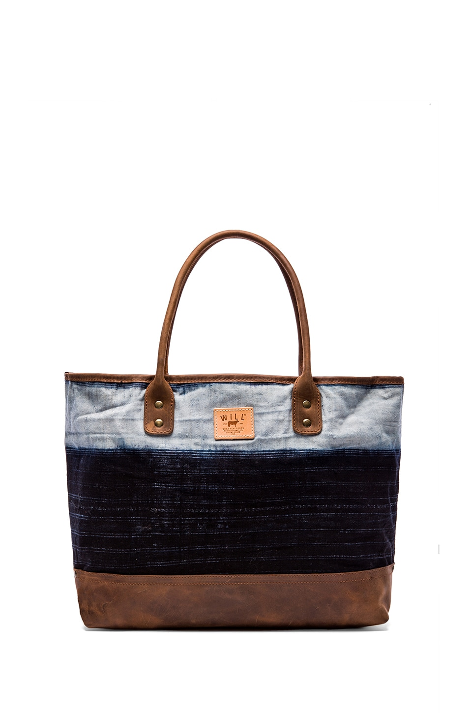WILL Leather Goods The Indigo Batik Tote in Linen