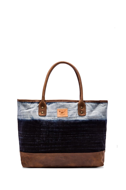 WILL Leather Goods The Indigo Batik Tote in Linen