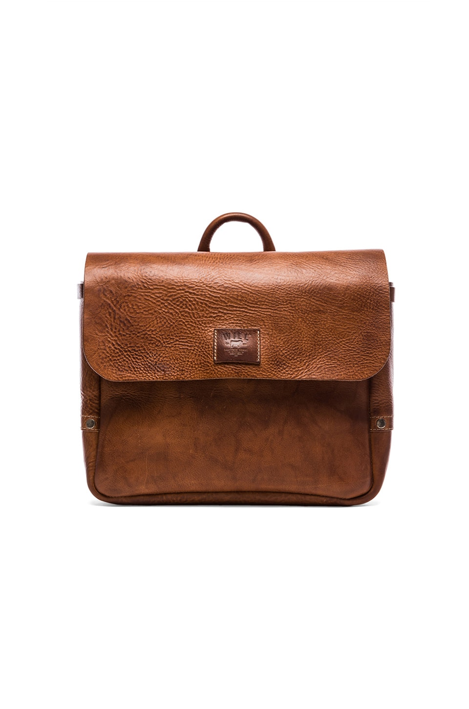 WILL Leather Goods Douglas Postal Bag in Tan