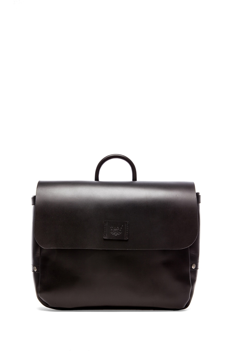 WILL Leather Goods Douglas Postal Bag in Black