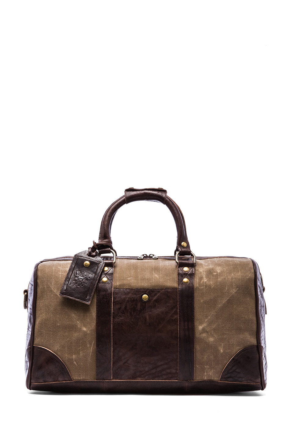 WILL Leather Goods The Snowbird Duffle in Tan Brown