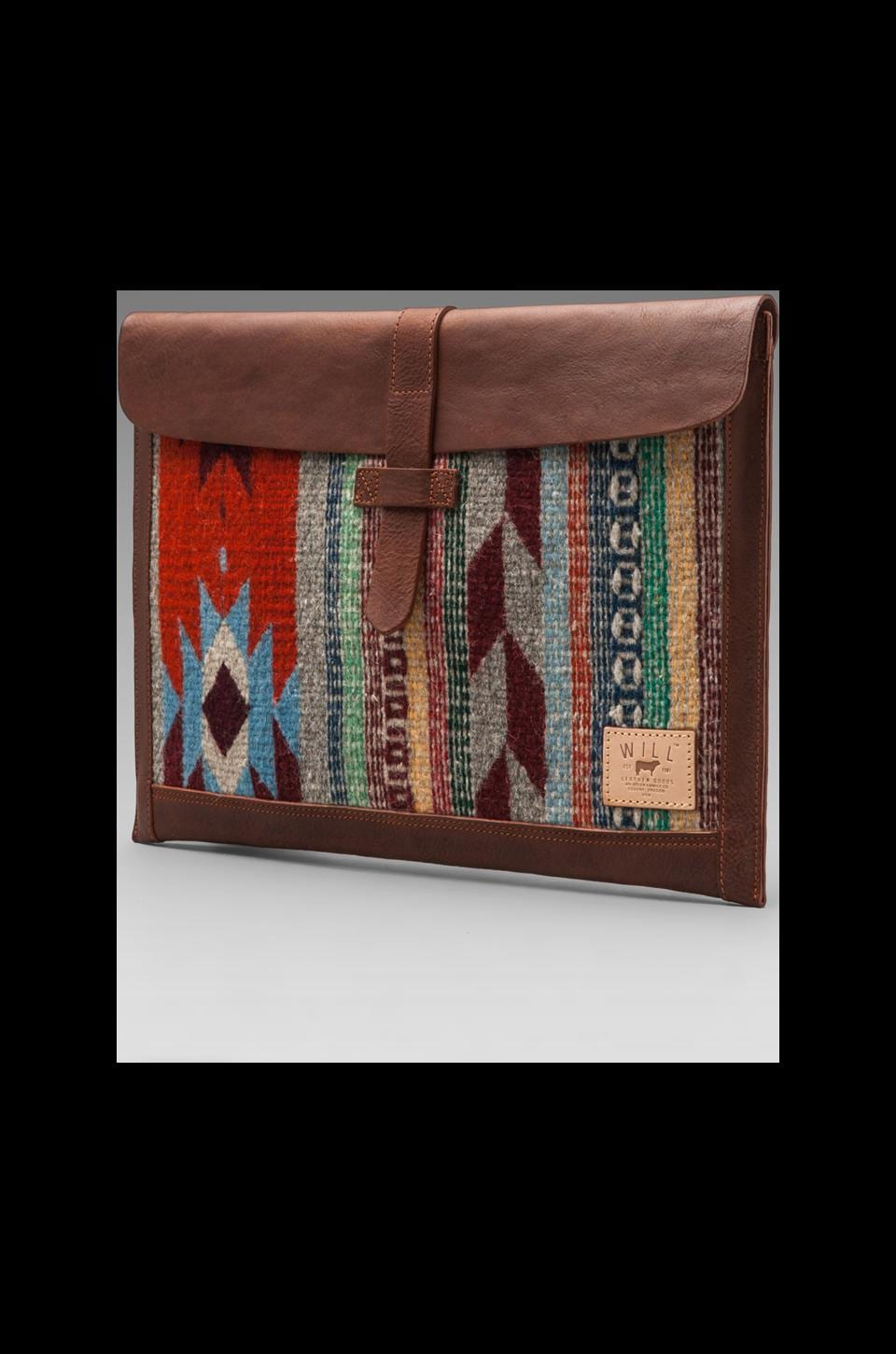 WILL Leather Goods Oaxacan Laptop Sleeve in Cognac
