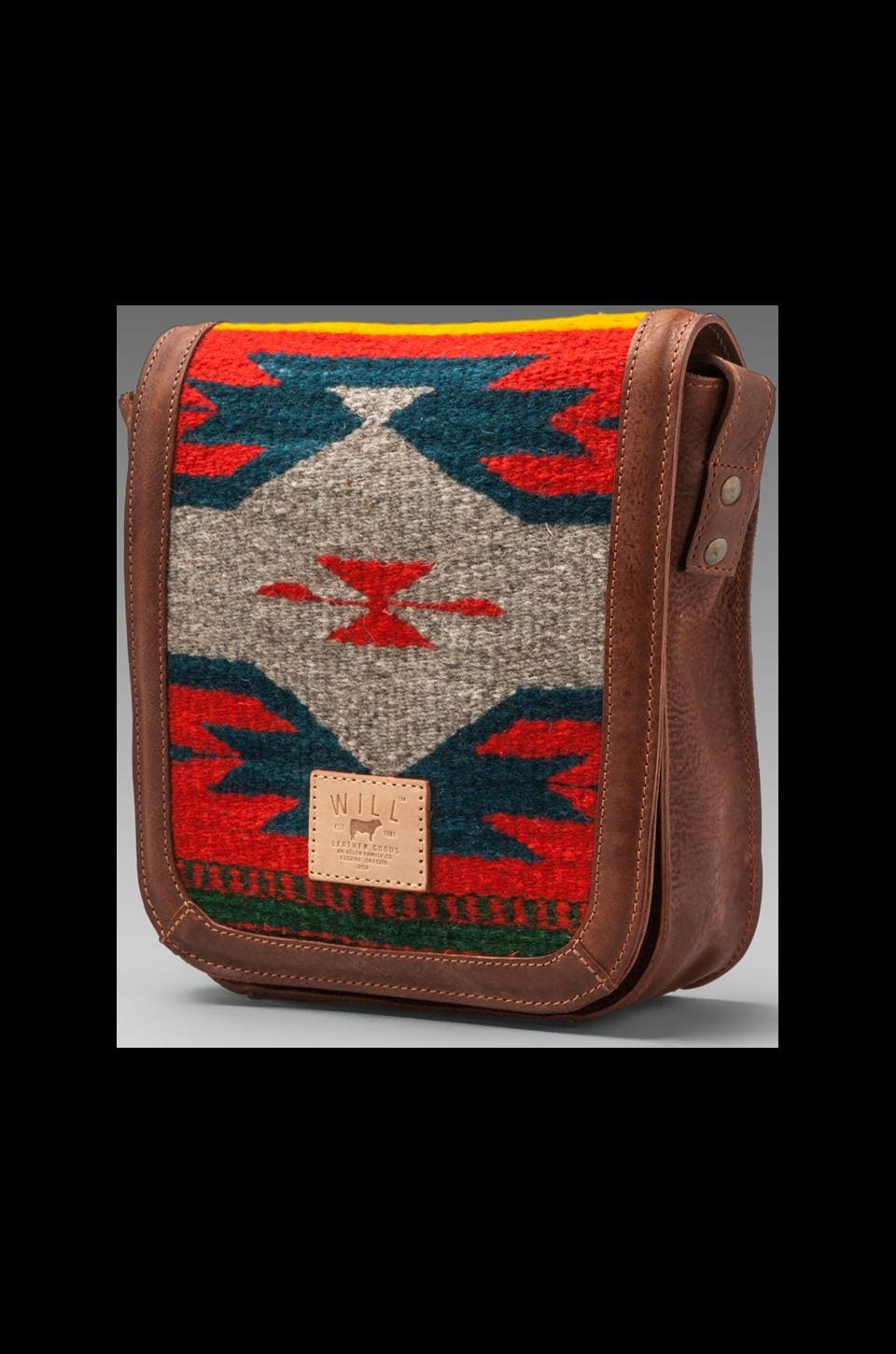 WILL Leather Goods Oaxacan Small Crossbody in Cognac